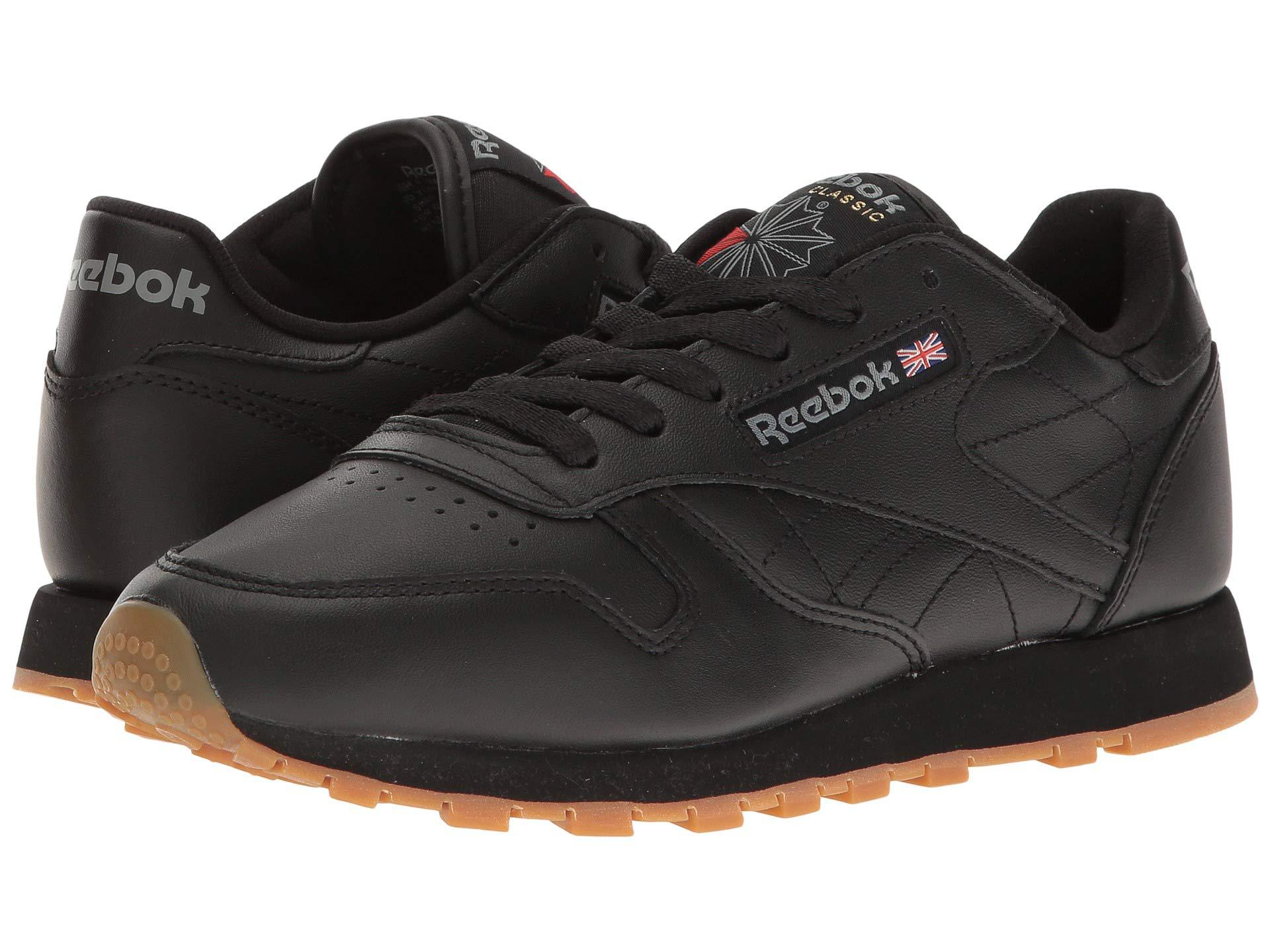 Lyst - Reebok Classic Leather (black gum) Women s Classic Shoes in Black c24a9262c5