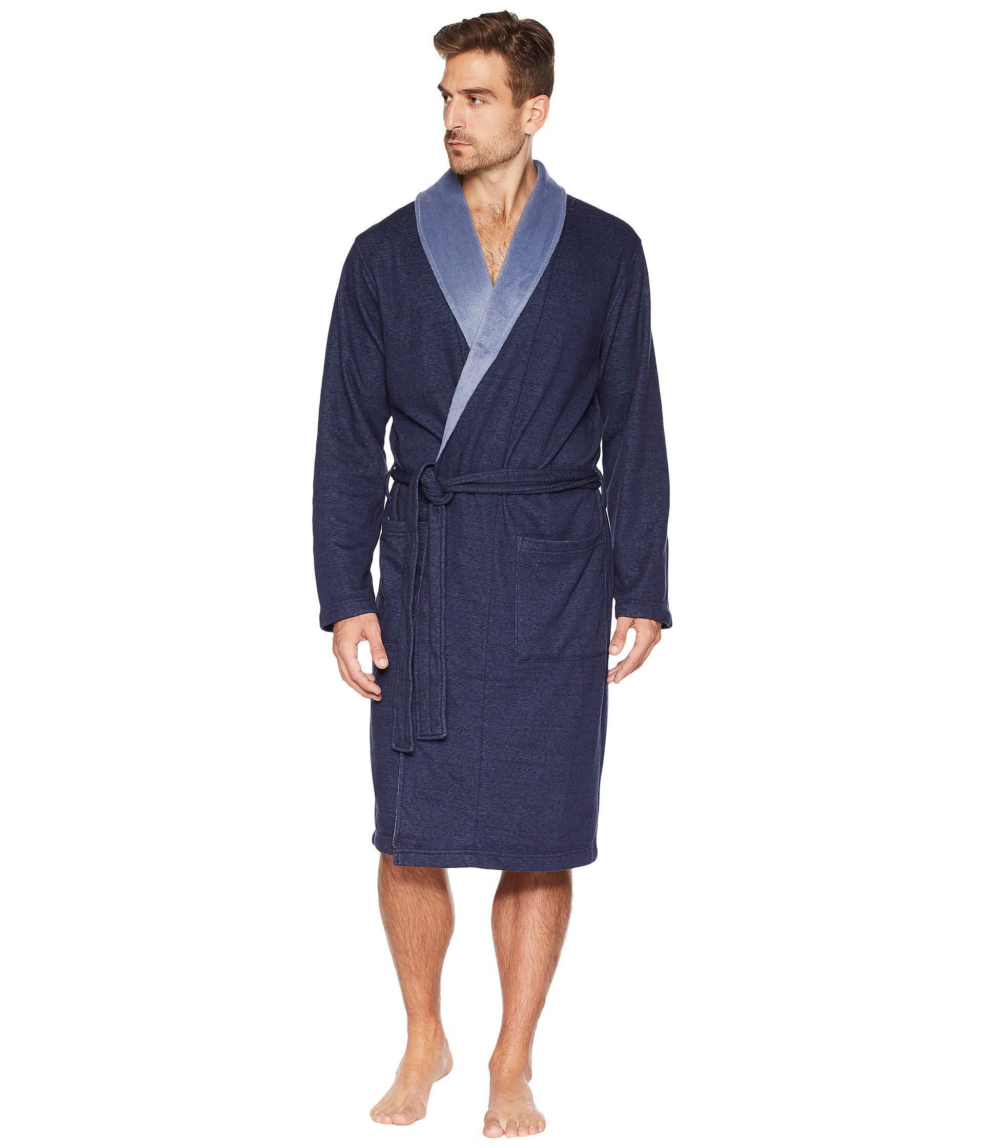 Lyst - UGG Robinson Robe (grey Heather) Men s Robe in Blue for Men 29512ce58