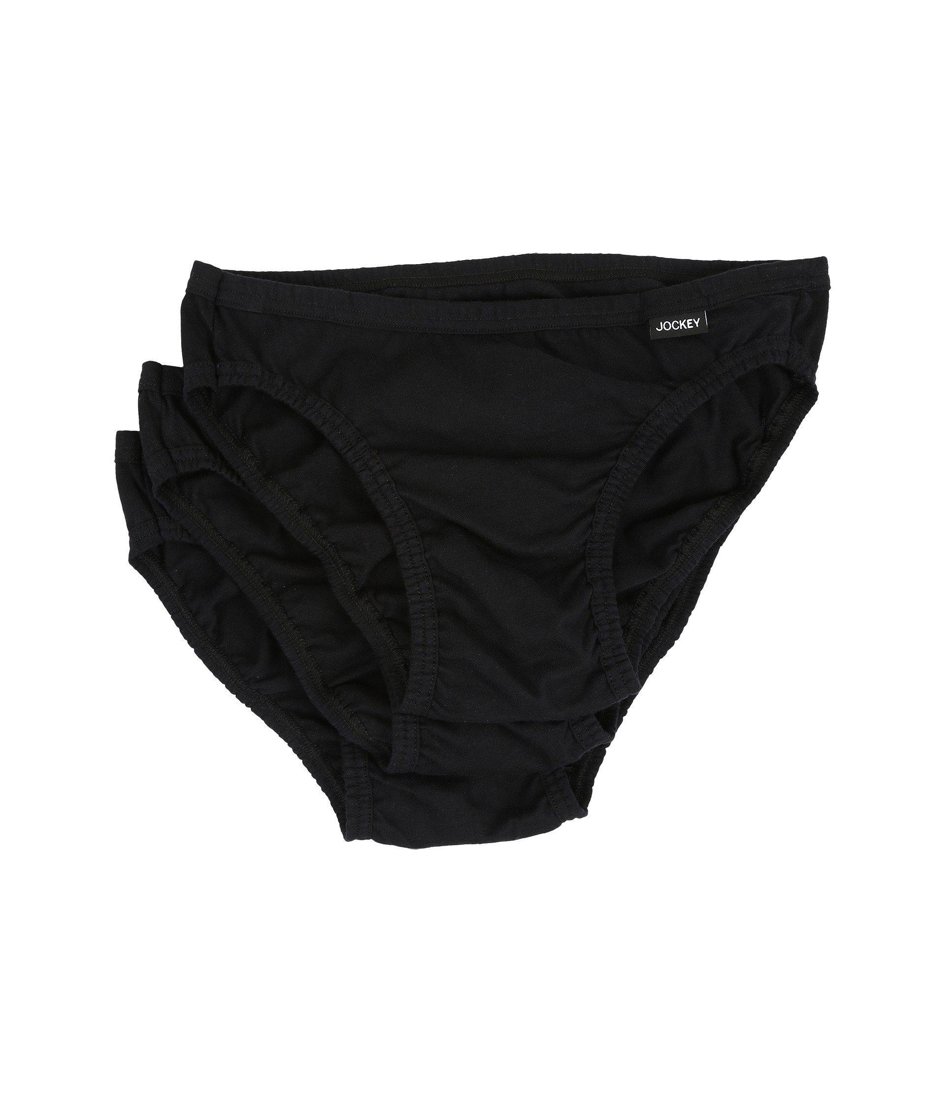 2e93b6d403e9 Lyst - Jockey Elance(r) Bikini - 3 Pack (black) Men's Underwear in ...