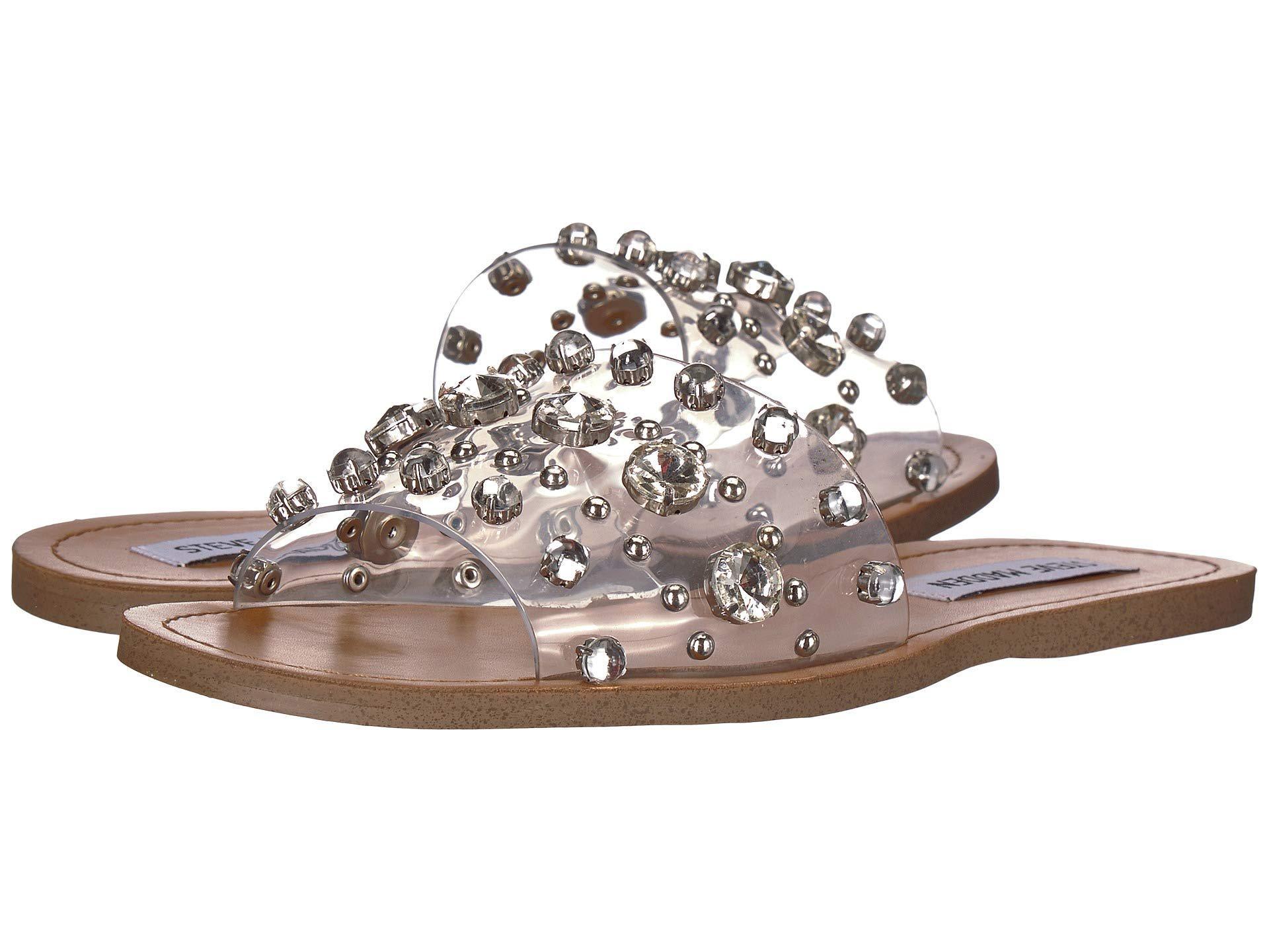 6731c76dc5af Lyst - Steve Madden Regent Flat Sandal (clear) Women s Sandals in Brown