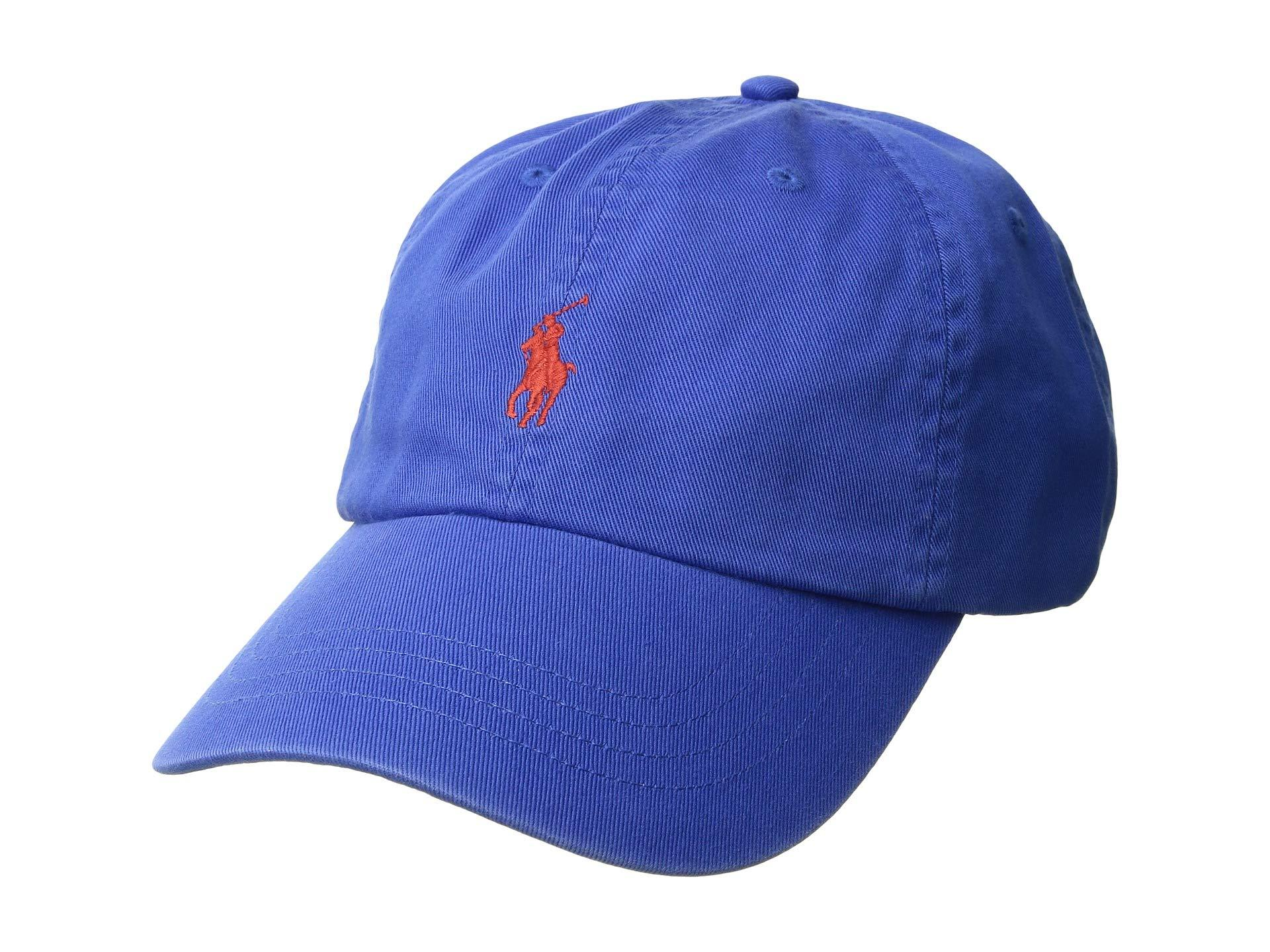 f81a2a6c102 Polo Ralph Lauren. Men s Blue Classic Sport Cotton Chino Hat (white W  Multi  Polo Player) Caps
