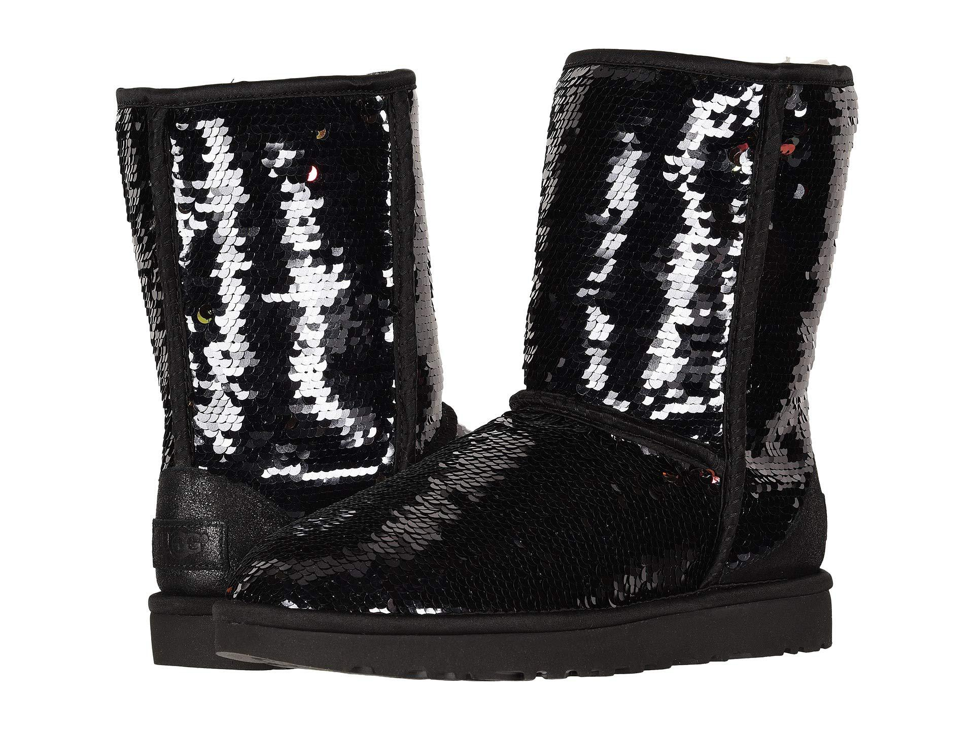 9c8b9c83ee3 UGG Classic Short Sequin (black) Women's Pull-on Boots - Lyst