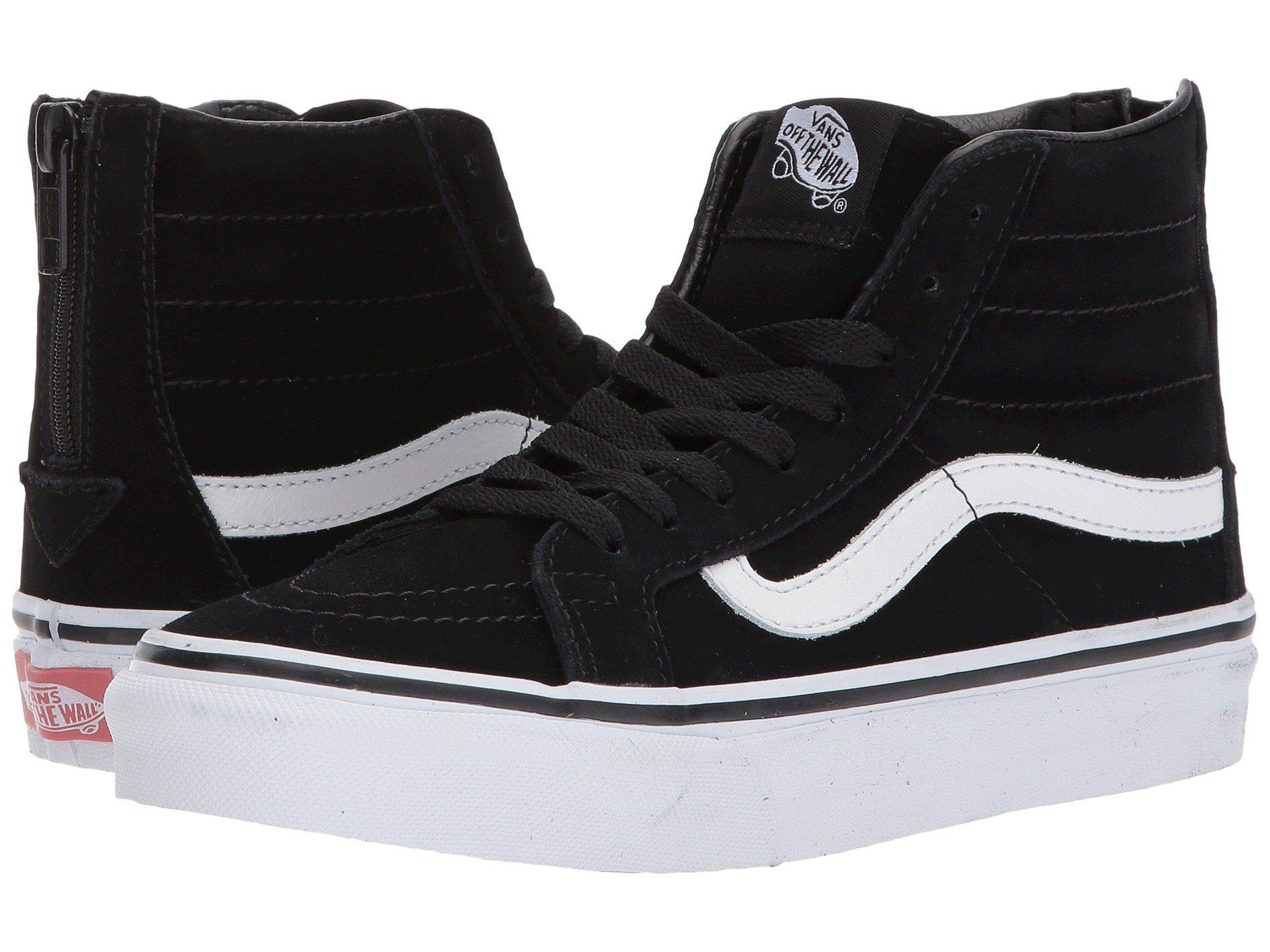 f6f9e1a6f5 Lyst - Vans Sk8-hi Slim Zip ((winter Bloom) Black white) Skate Shoes ...