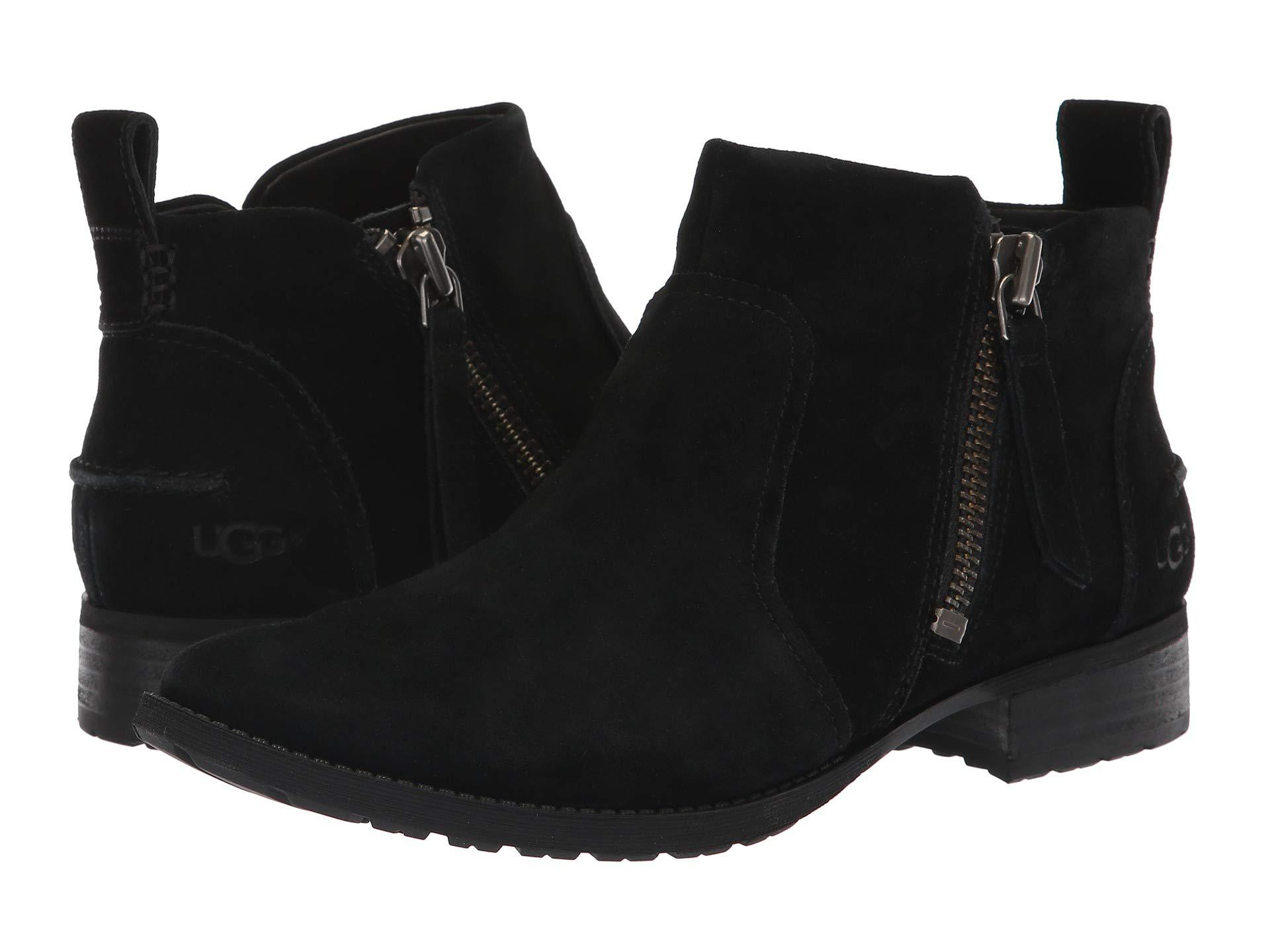4e63359a493 UGG Aureo Boot (oxblood Leather) Women's Zip Boots in Black - Lyst