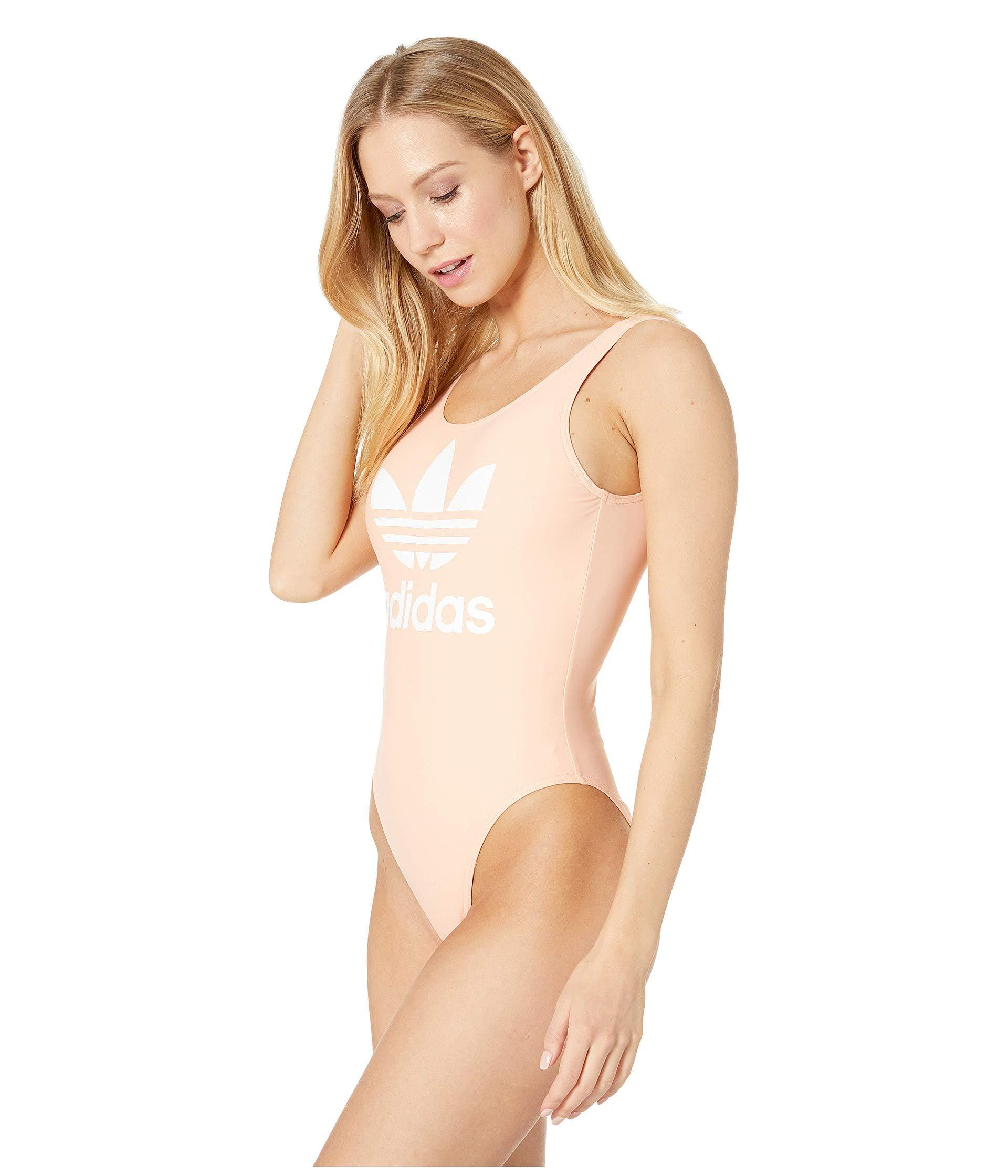 ed92c4341f Lyst - adidas Originals Trefoil Swimsuit (dust Pink) Women s Swimsuits One  Piece in Pink