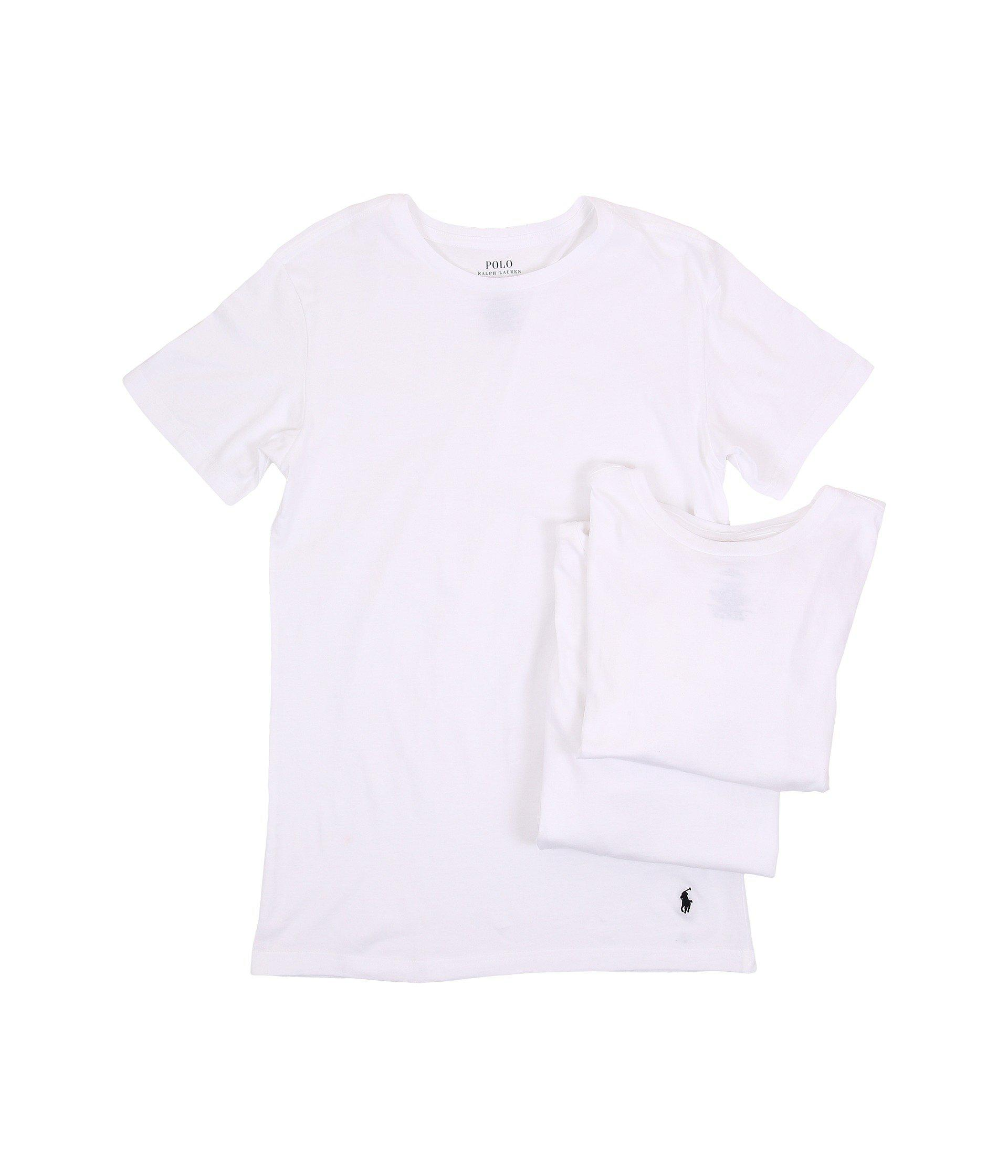 Lyst Polo Ralph Lauren 3 Pack Slim Fit Crew White Men S T Shirt