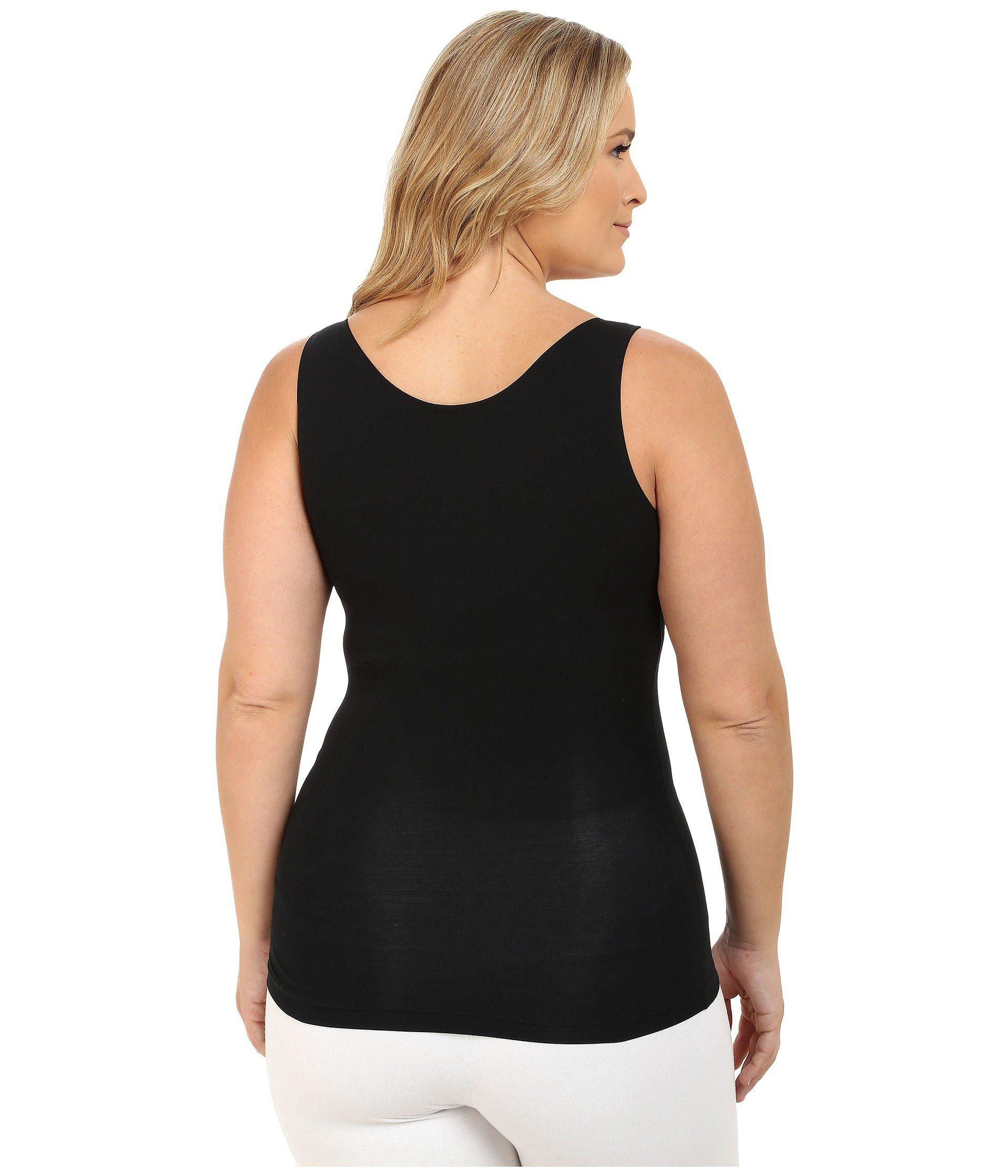 9af7e0142f7 Spanx - Plus Size In And Out Tank Top (very Black) Women s Sleeveless -.  View fullscreen