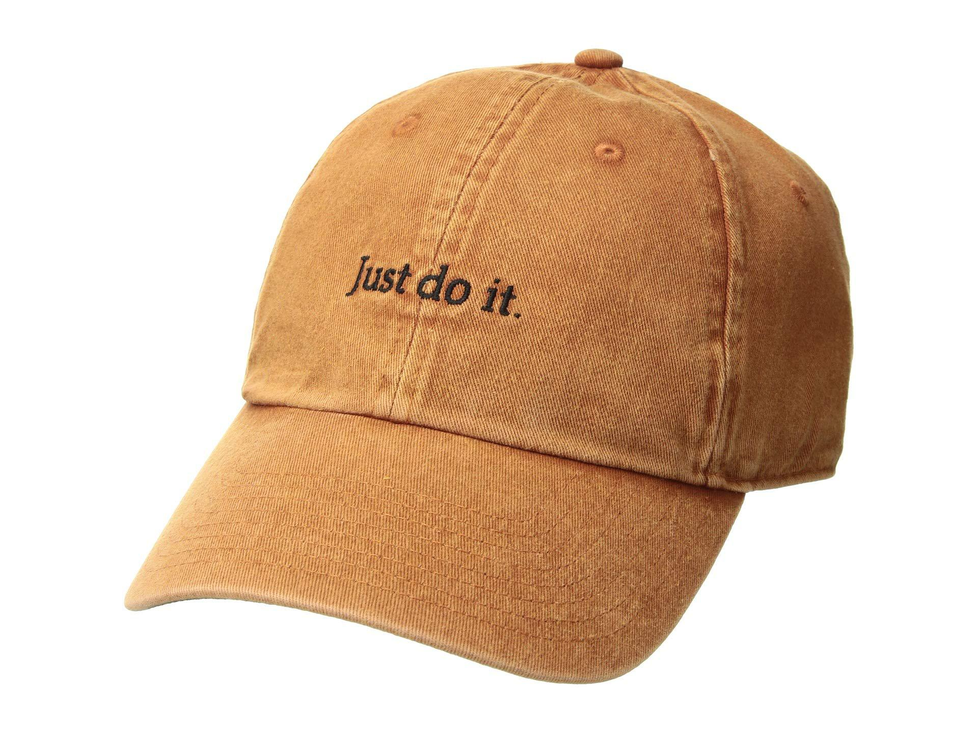 c1323c91e4cd3 Men's Brown Nsw H86 Cap Just Do It (dark Russet/black/dark Russet) Baseball  Caps
