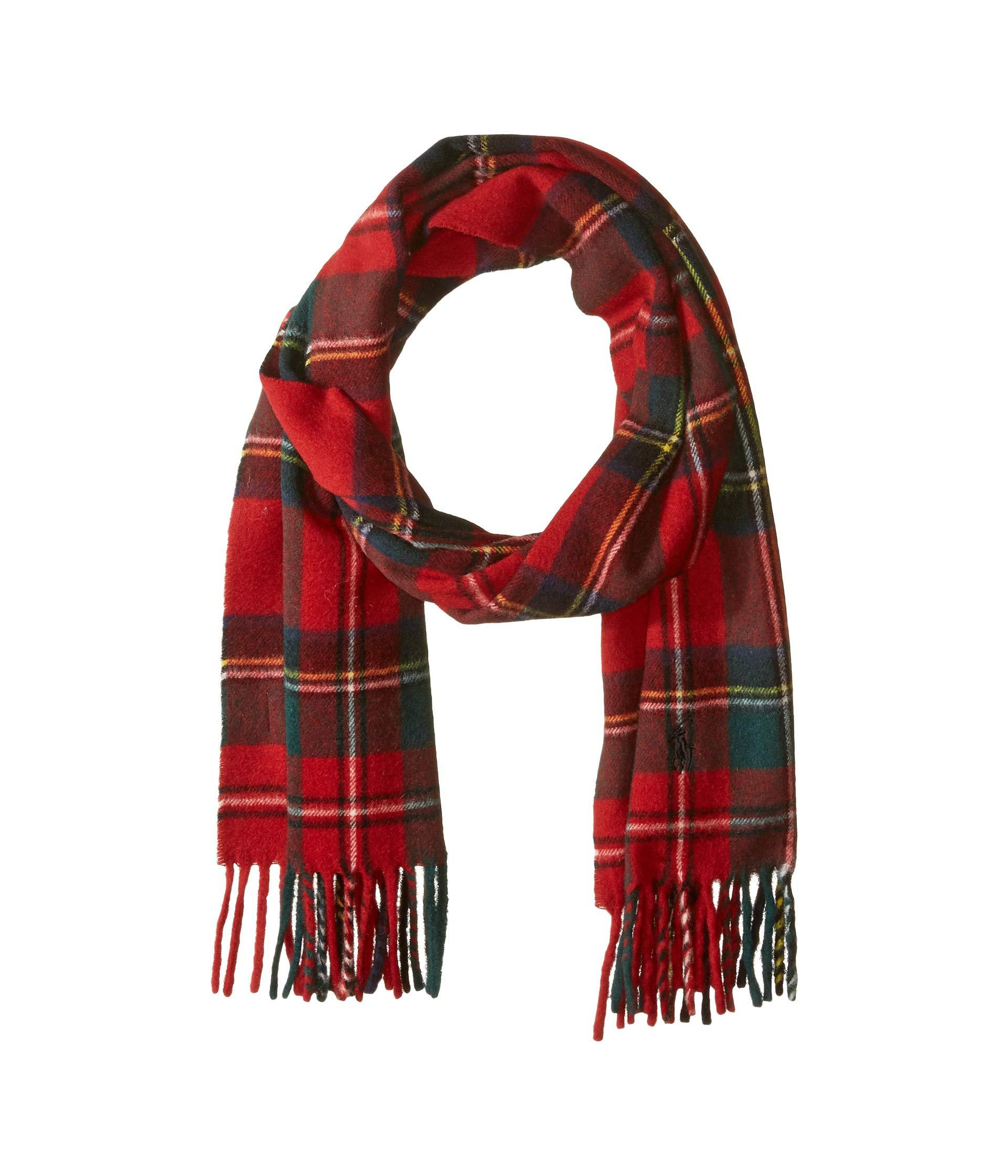 497912aedd720 Polo Ralph Lauren Classic Cashmere Tartan Scarf in Red for Men - Lyst