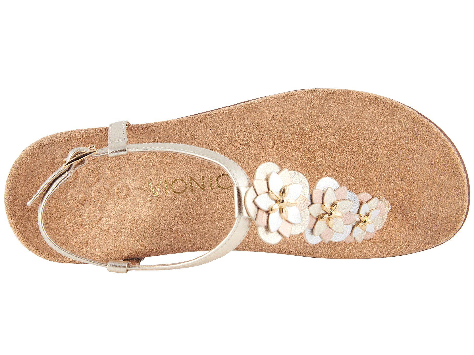 548d0166d1de Lyst - Vionic Paulie (champagne) Women s Sandals