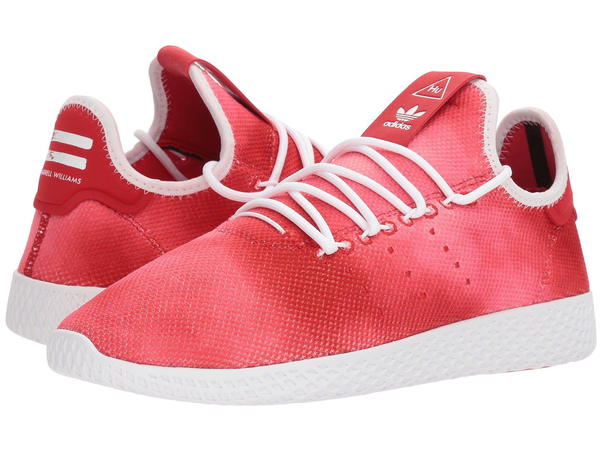 lyst adidas originali pharrell williams tennis razza umana (scarlet