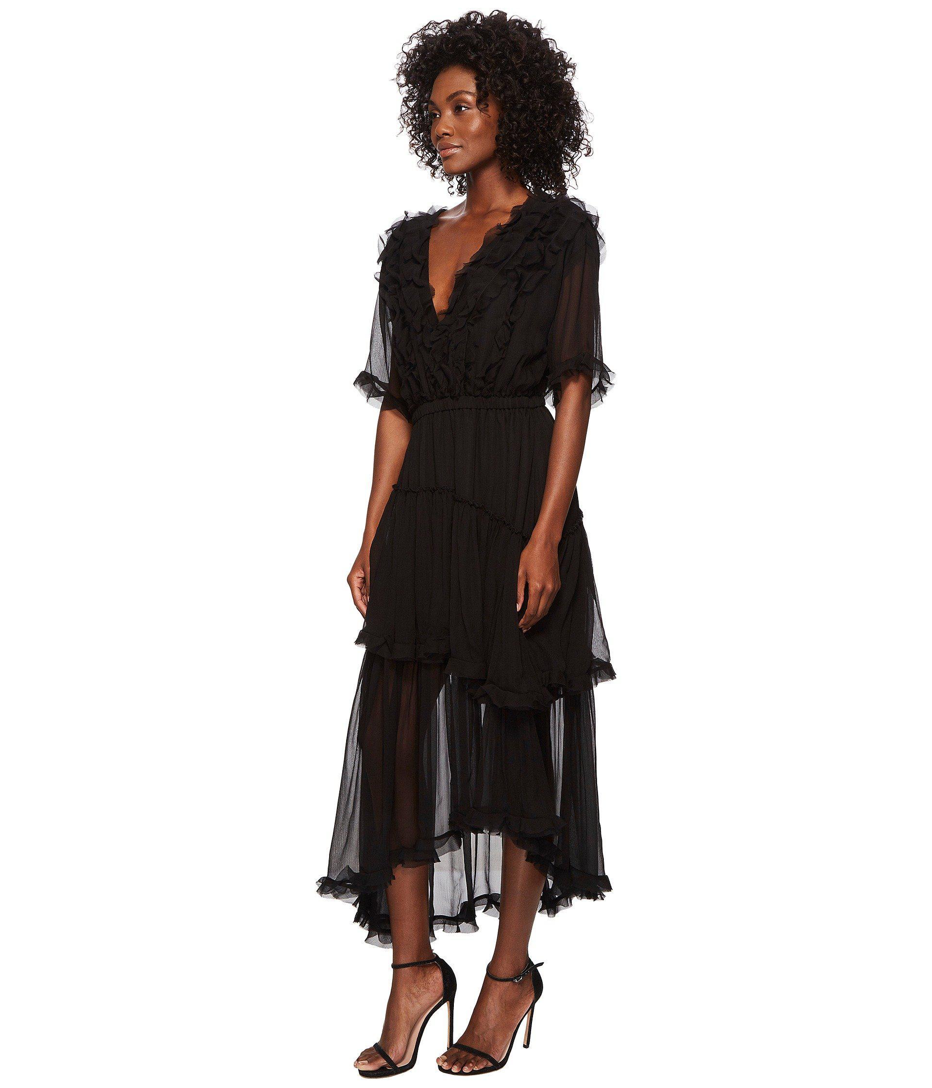 e5a9bb011816 Lyst - The Kooples Silk Muslin Dress (black) Women's Dress in Black
