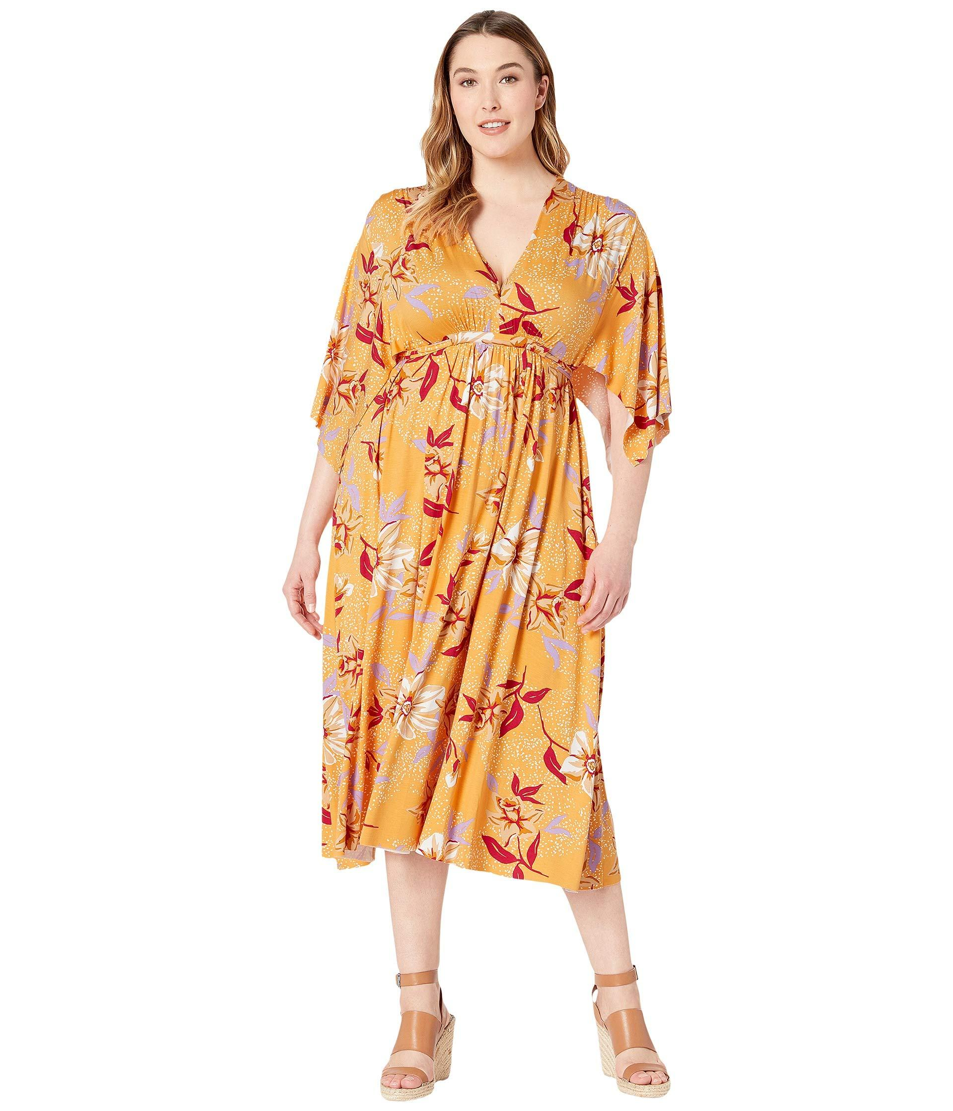 Lyst - Rachel Pally Plus Size Mid Length Caftan Dress (daffodil ... b43e0fe17