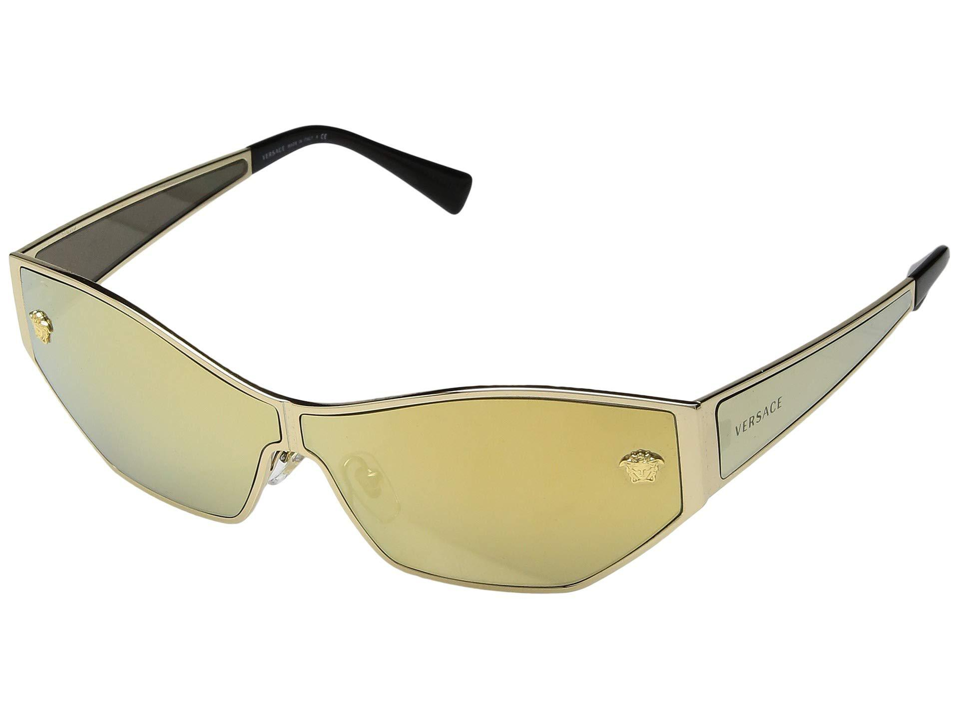 b0c58b31d2 Lyst - Versace Ve2205 (gold brown Mirror gold) Fashion Sunglasses in ...