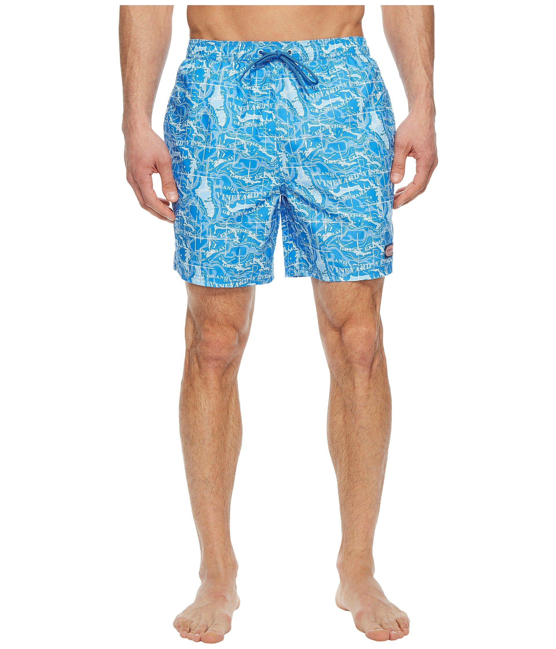 d83a53f1a2 Lyst - Vineyard Vines Bahama Map Chappy Swim Trunks in Blue for Men