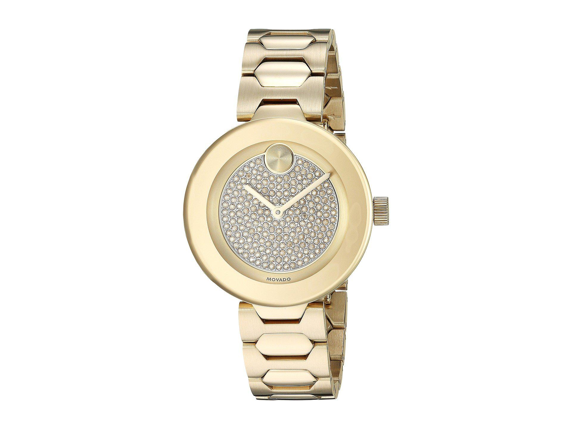 85260ce31df Lyst - Movado Bold-t-bar - 3600492 (gold Plated) Dress Watches in ...
