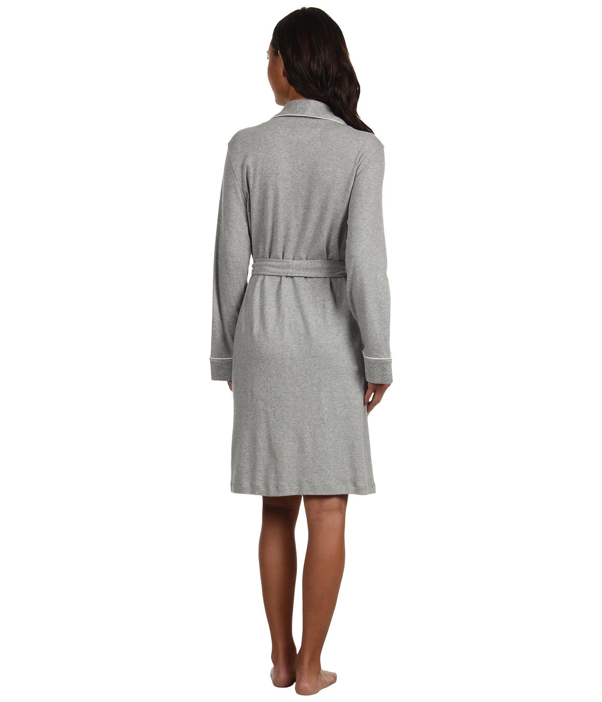 Lauren by Ralph Lauren Essentials 100/% Cotton Quilted Collar Robe