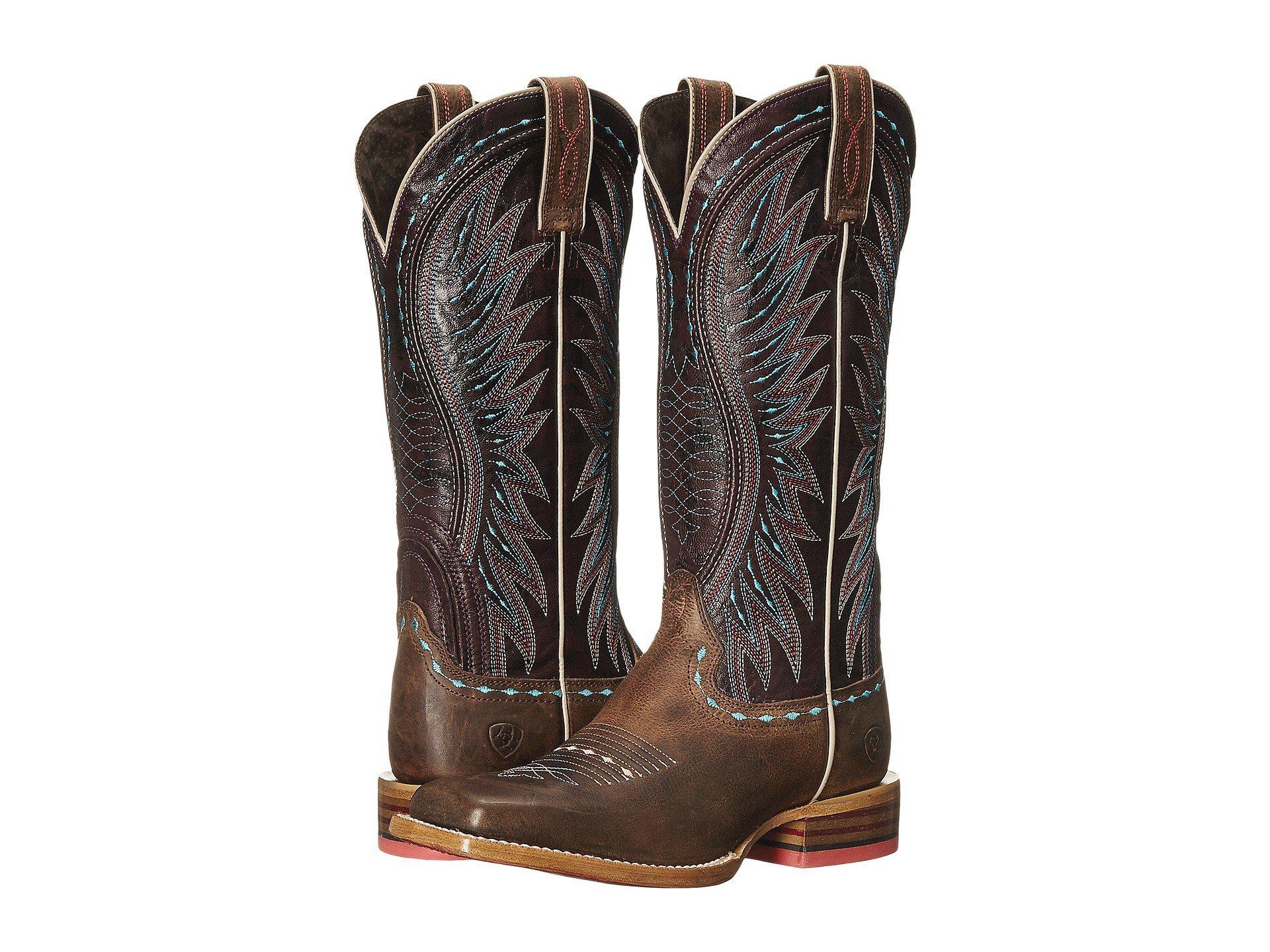a89d36262dda Lyst - Ariat Vaquera (khaki sunset Purple) Cowboy Boots in Natural