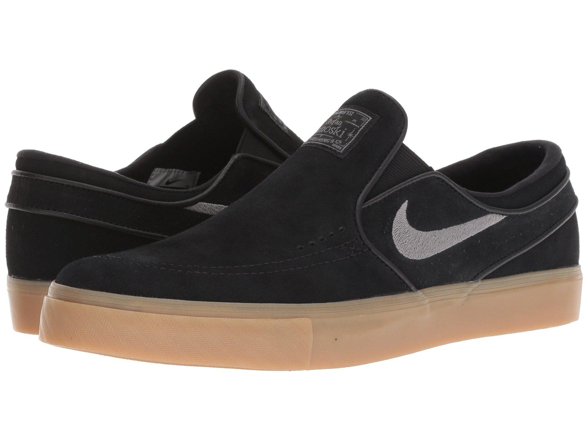 246687227 Nike - Zoom Stefan Janoski Slip-on - Suede (black gunsmoke gum. View  fullscreen