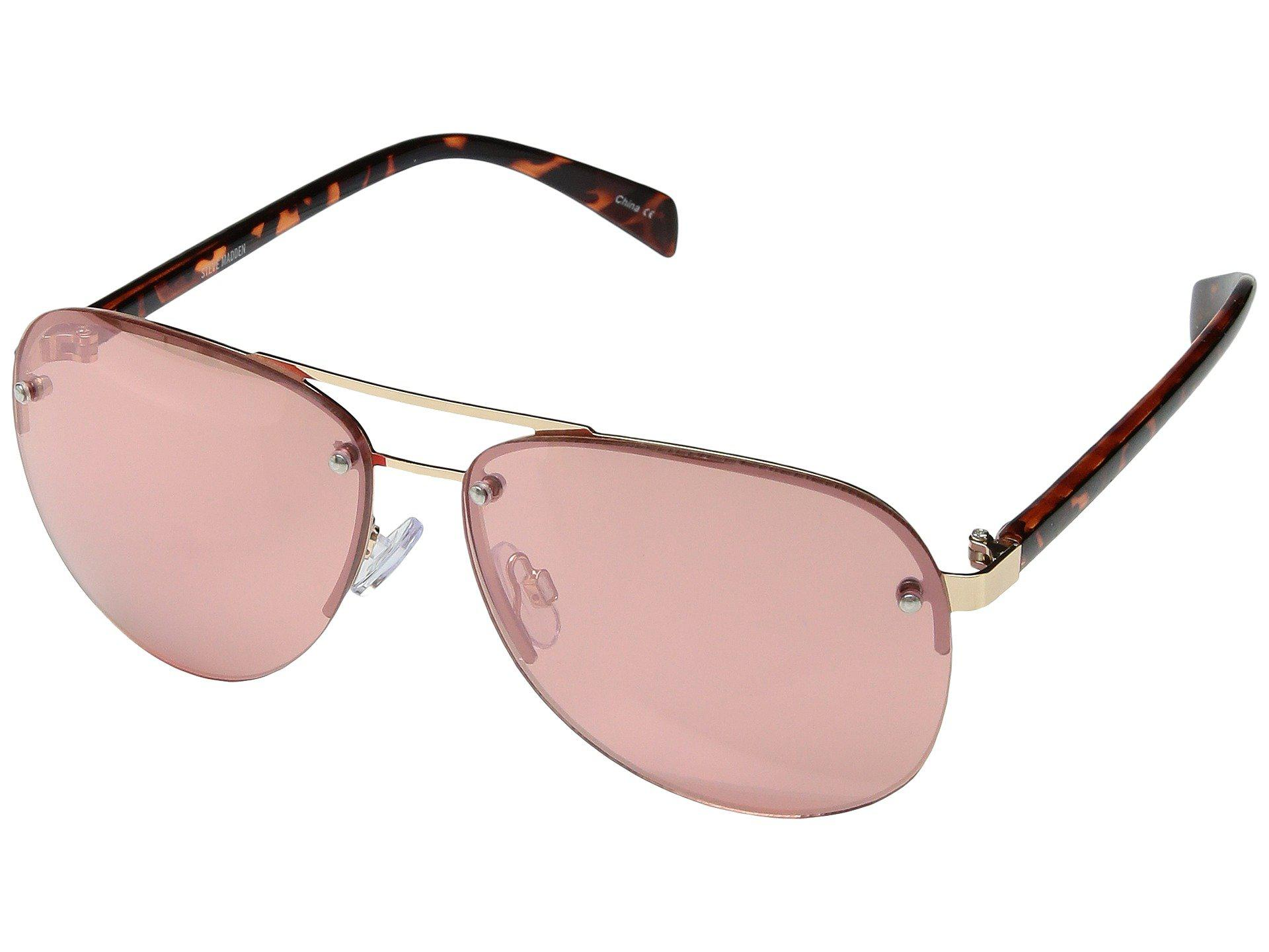 4b087ad704 Lyst - Steve Madden Christina (gold rose Lens) Fashion Sunglasses in ...