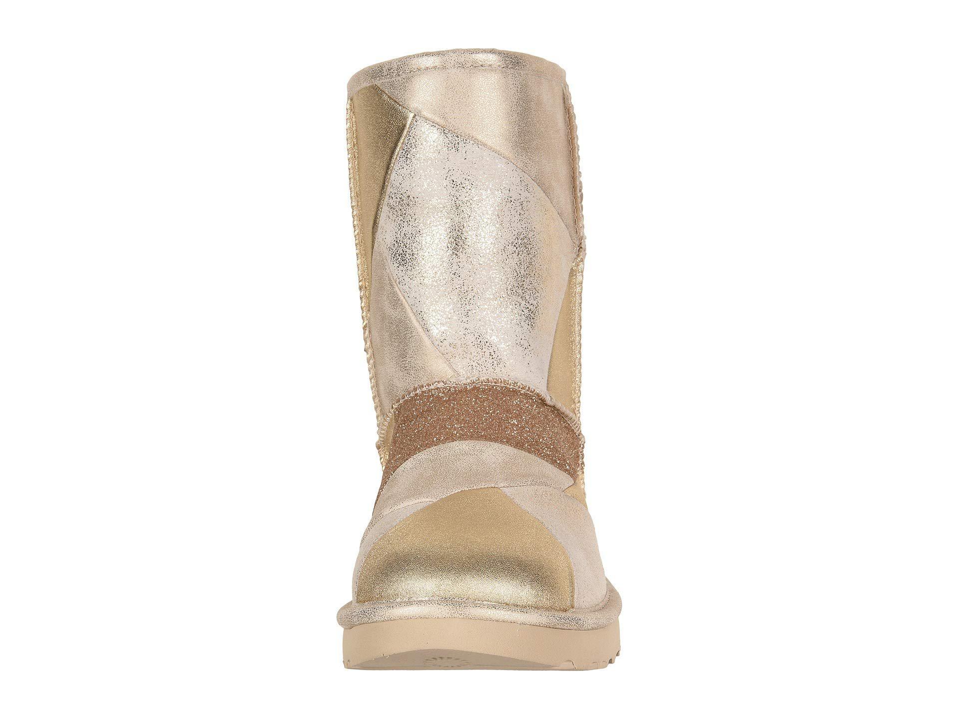 18cbfc21221 Metallic Classic Glitter Patchwork (gold) Women's Pull-on Boots