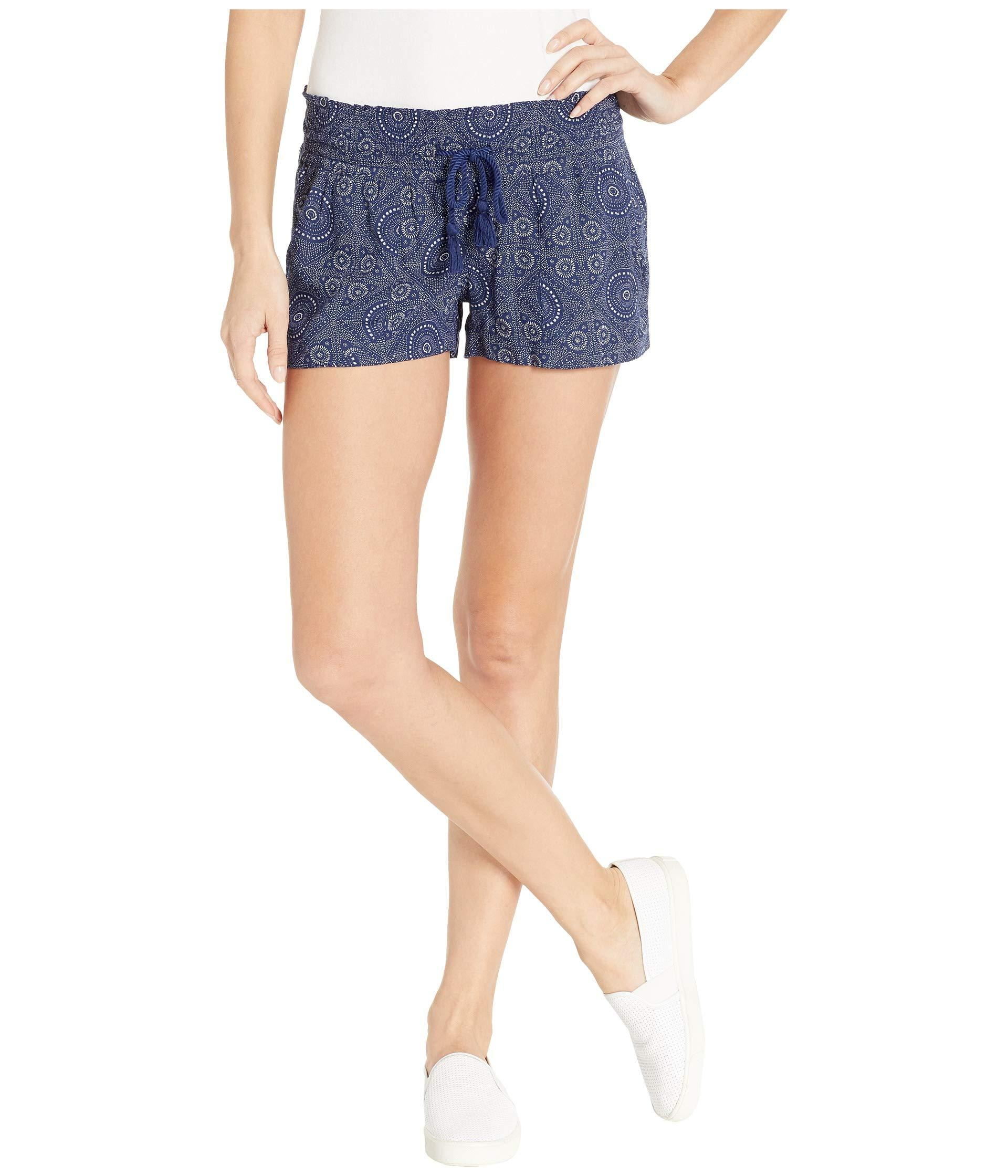 8edbba3624 Lyst - Roxy Oceanside Beach Shorts (medieval Blue Shibori Nights ...