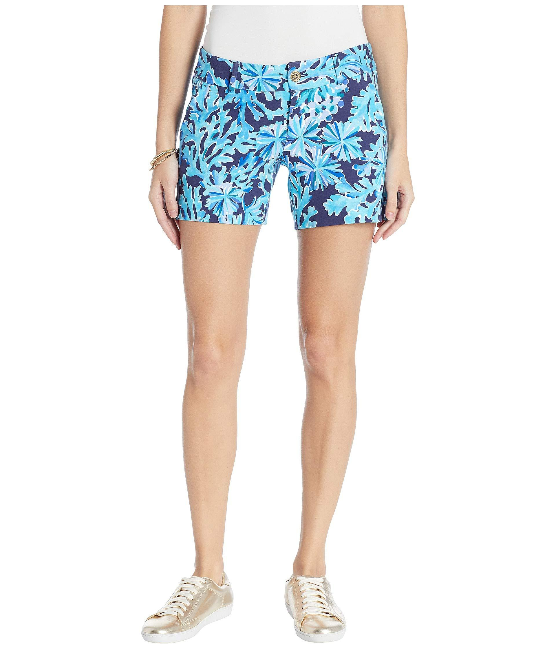 2d888d6f13a7e8 Lilly Pulitzer Callahan Knit Shorts (blue Peri Turtley Awesome ...
