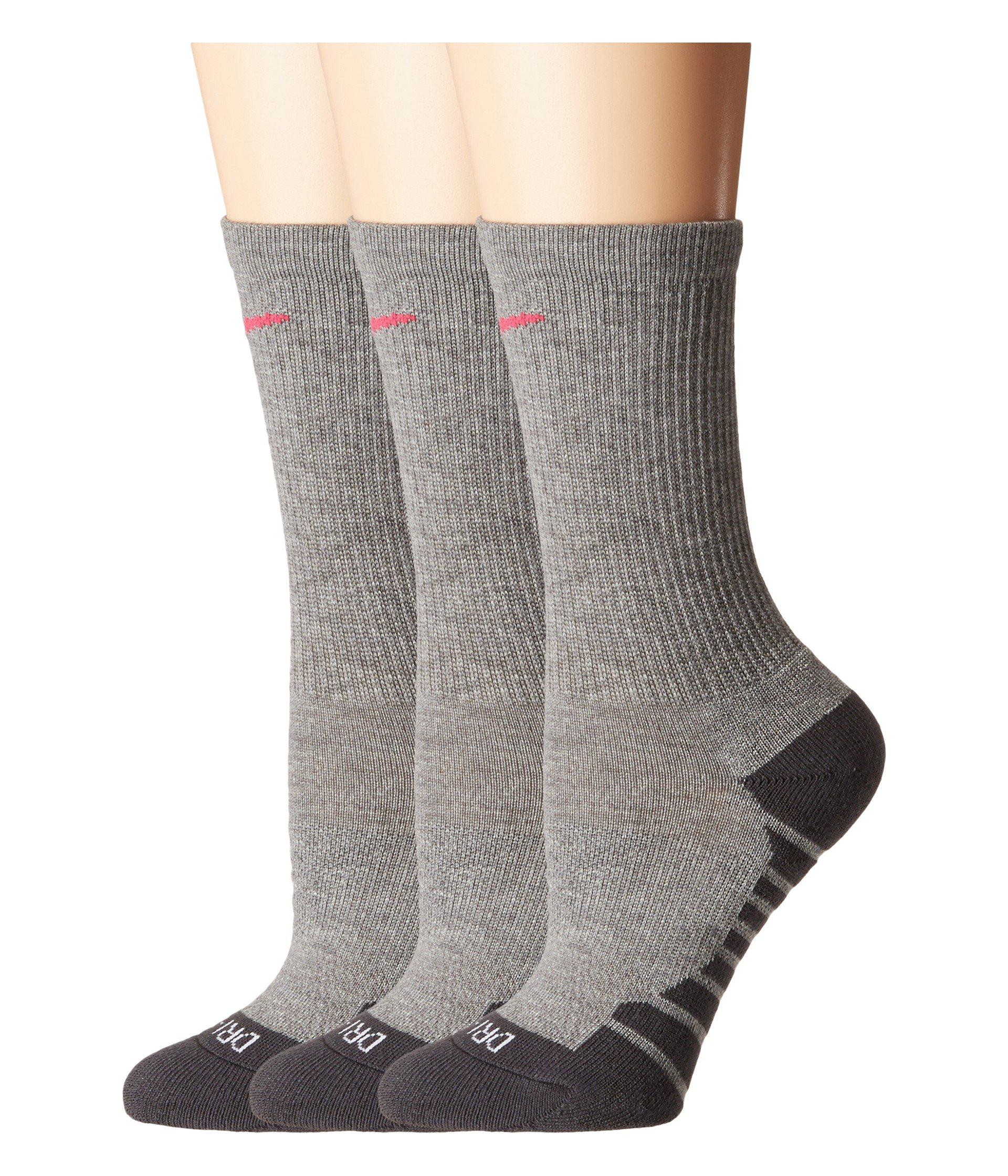 Quiksilver Women/'s Pack of 3 Crew Sports Trainer Cushion Socks