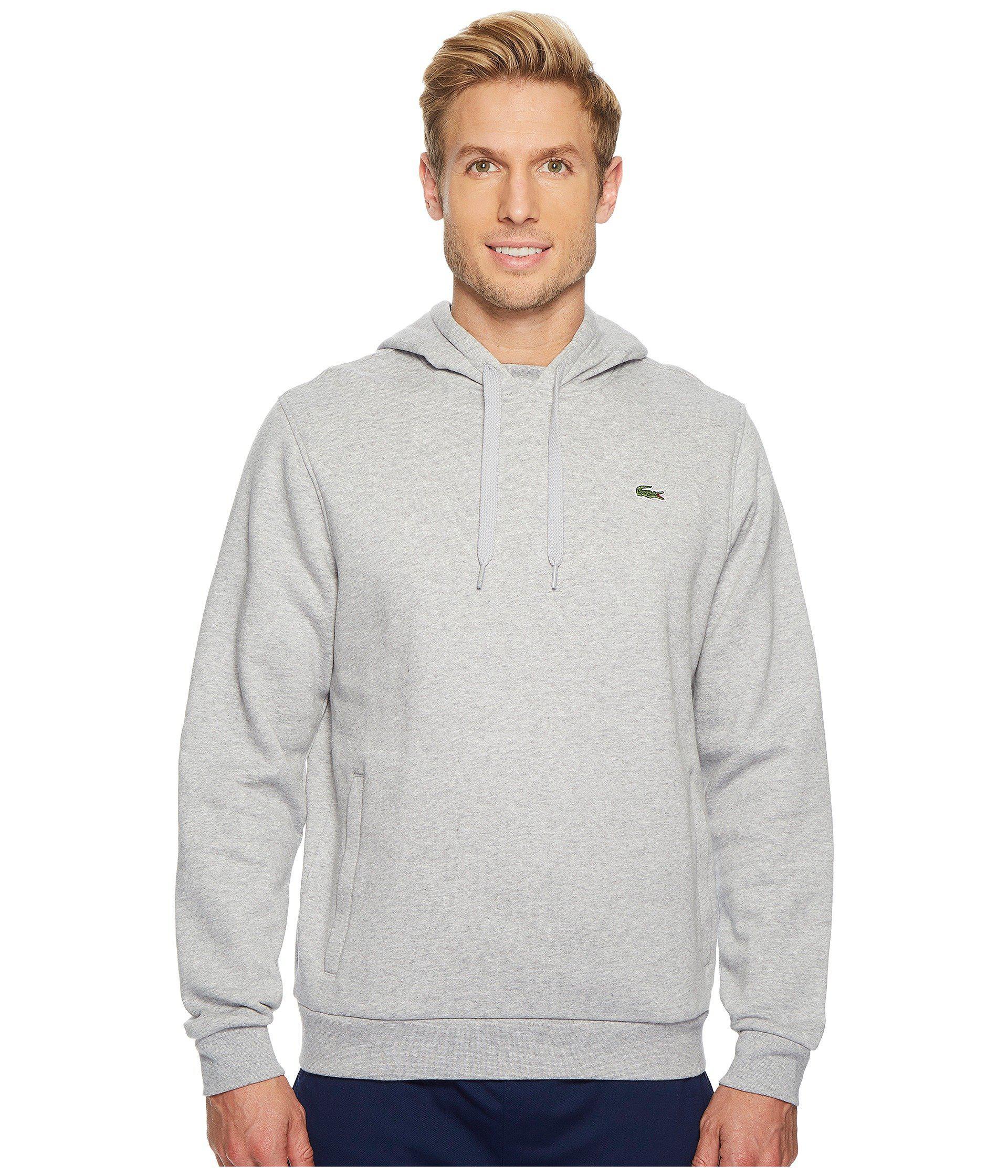cdfecead5b Sport Pullover Hoodie Fleece (silver Chine/navy Blue) Men's Sweatshirt