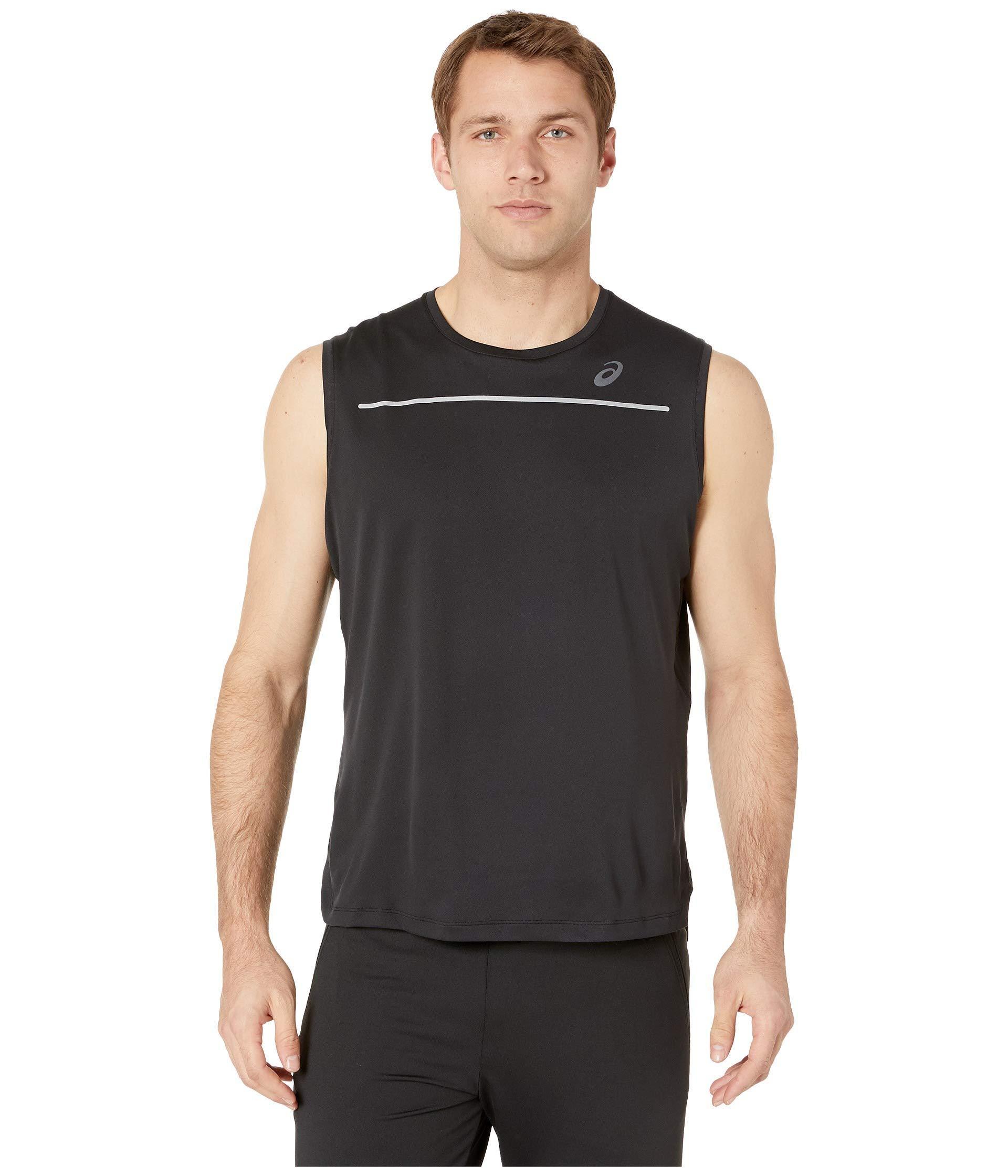 03f27d3dc799d Asics - Black Lite-show Sleeveless Top (dark Grey) Men s Sleeveless for Men.  View fullscreen