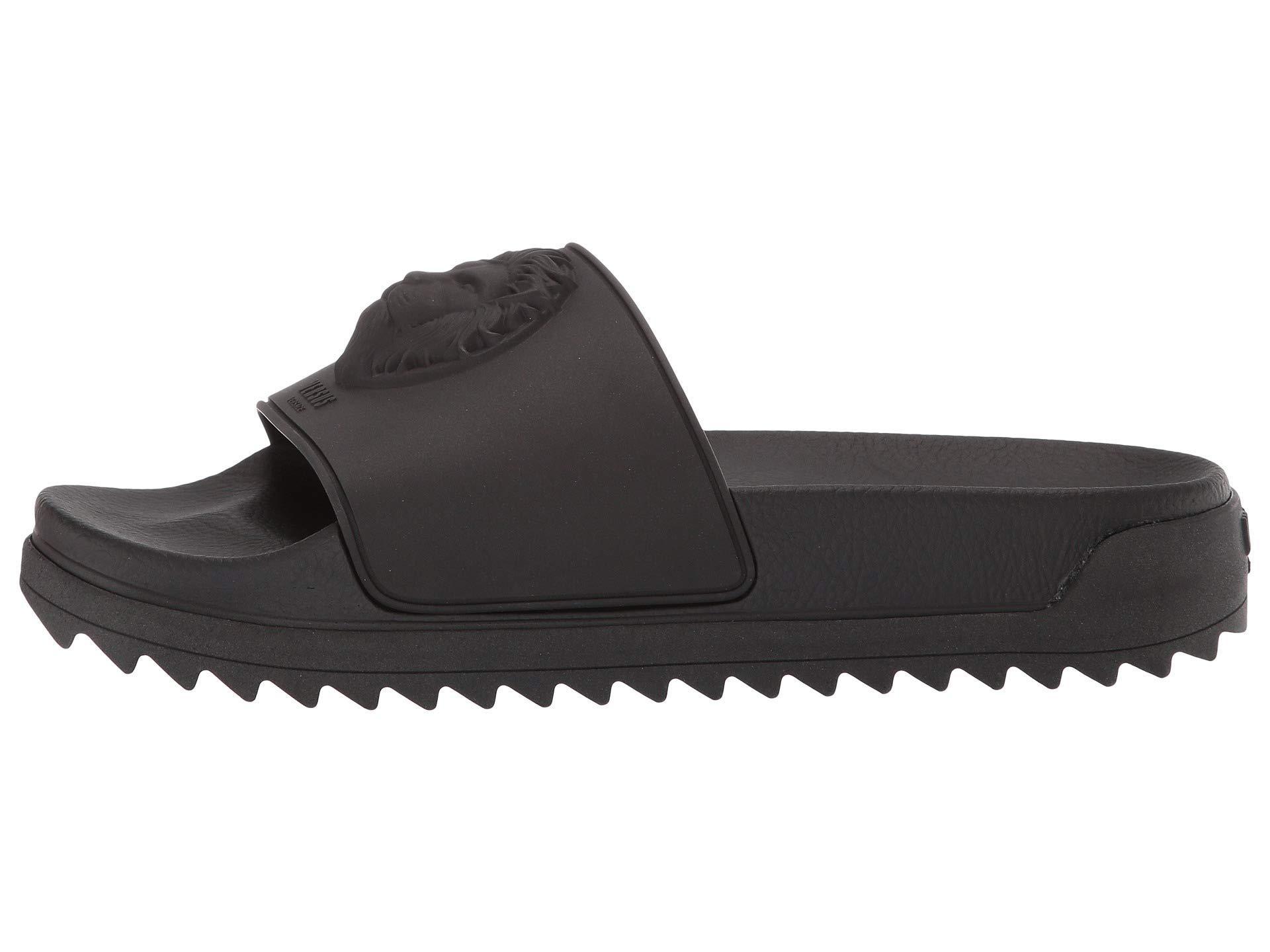 Mens Spot On Slip On Slippers Navy//Black//Brown Lion