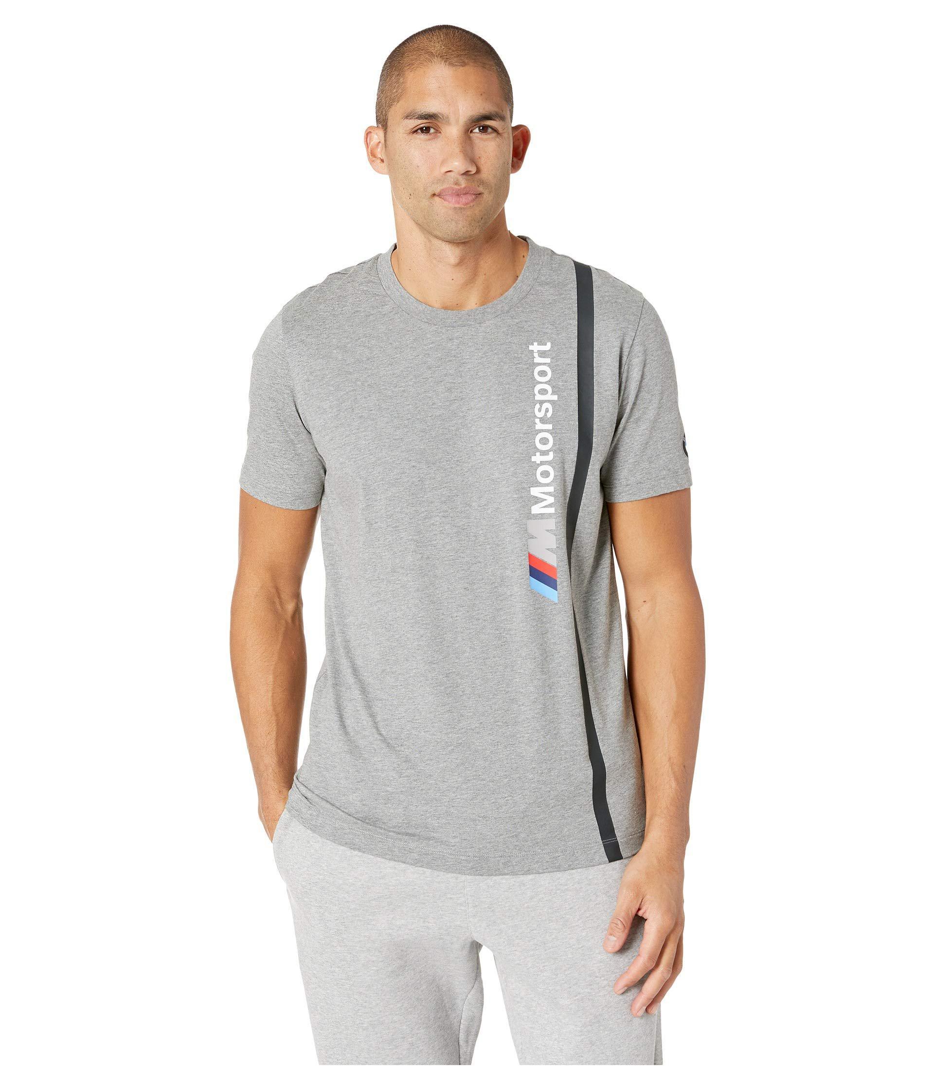 b002d574 Lyst - PUMA Bmw Mms Logo Tee (medium Grey Heather) Men's T Shirt in ...
