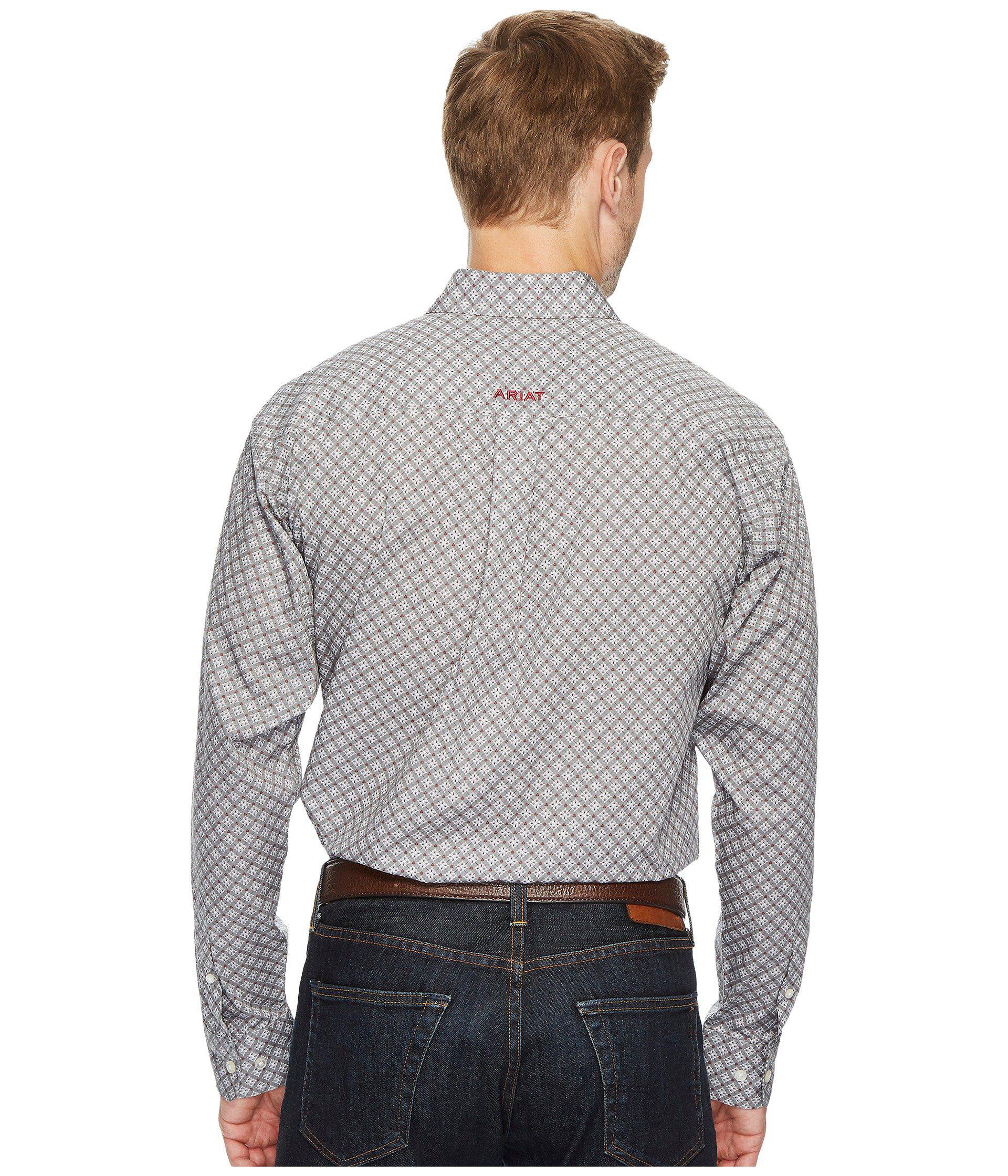 Ariat Men/'s Simms Long Shadow Print Button-Front Long Sleeve Shirt