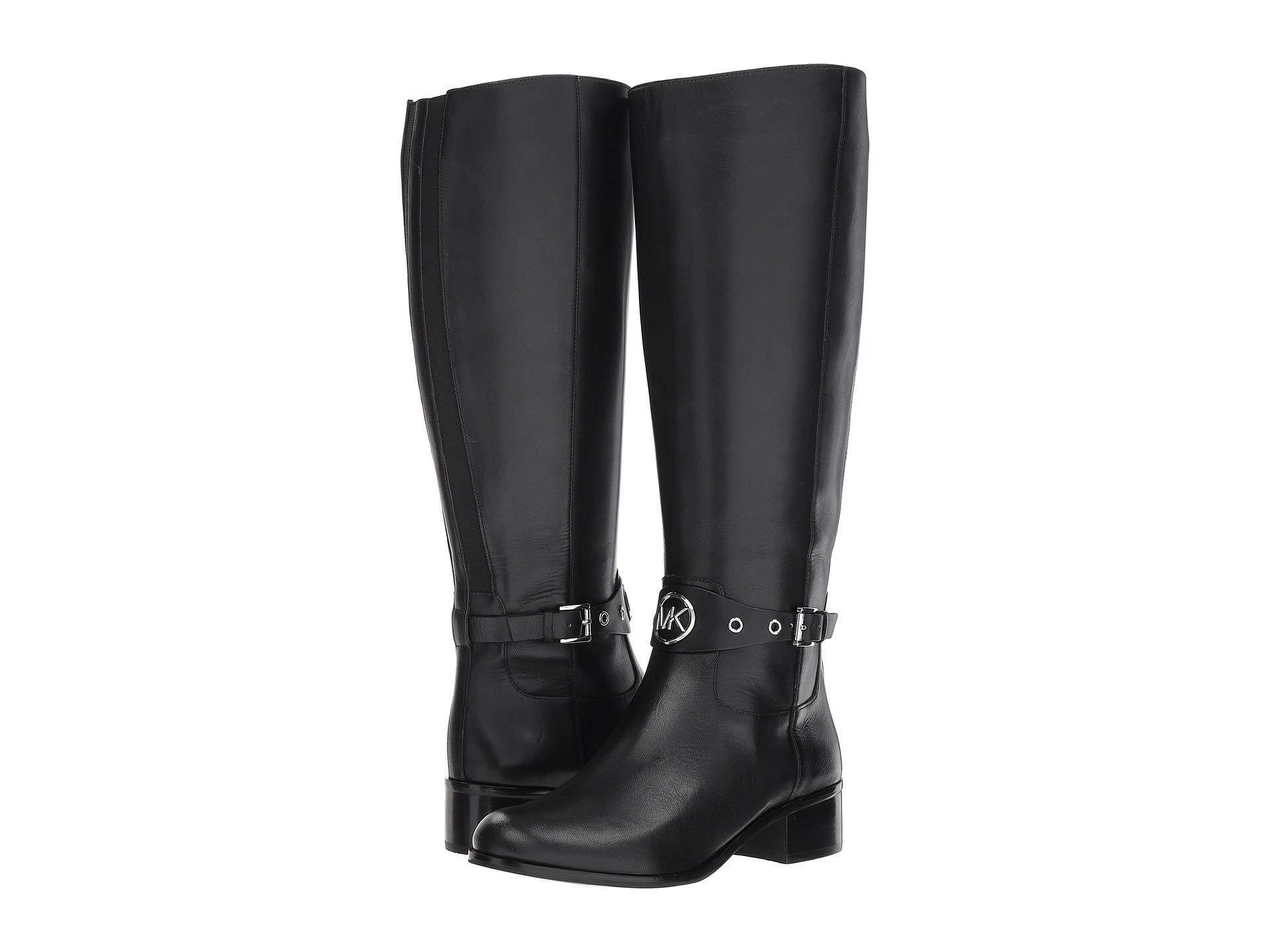 51d49bd4f88a Lyst - MICHAEL Michael Kors Heather Boot Wide Calf (black Vachetta ...