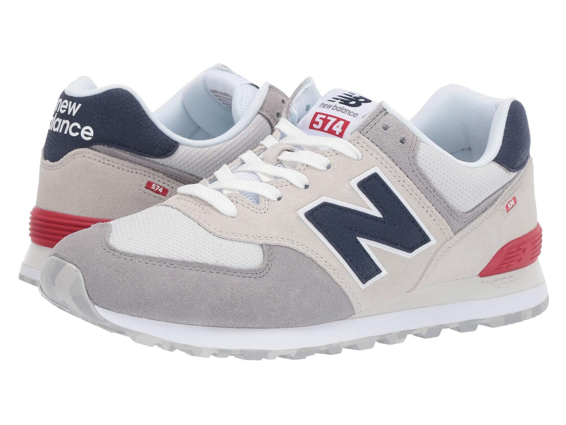 New Balance Suede 574v2-usa (dark Navy/marred Blue) Men's Shoes ...