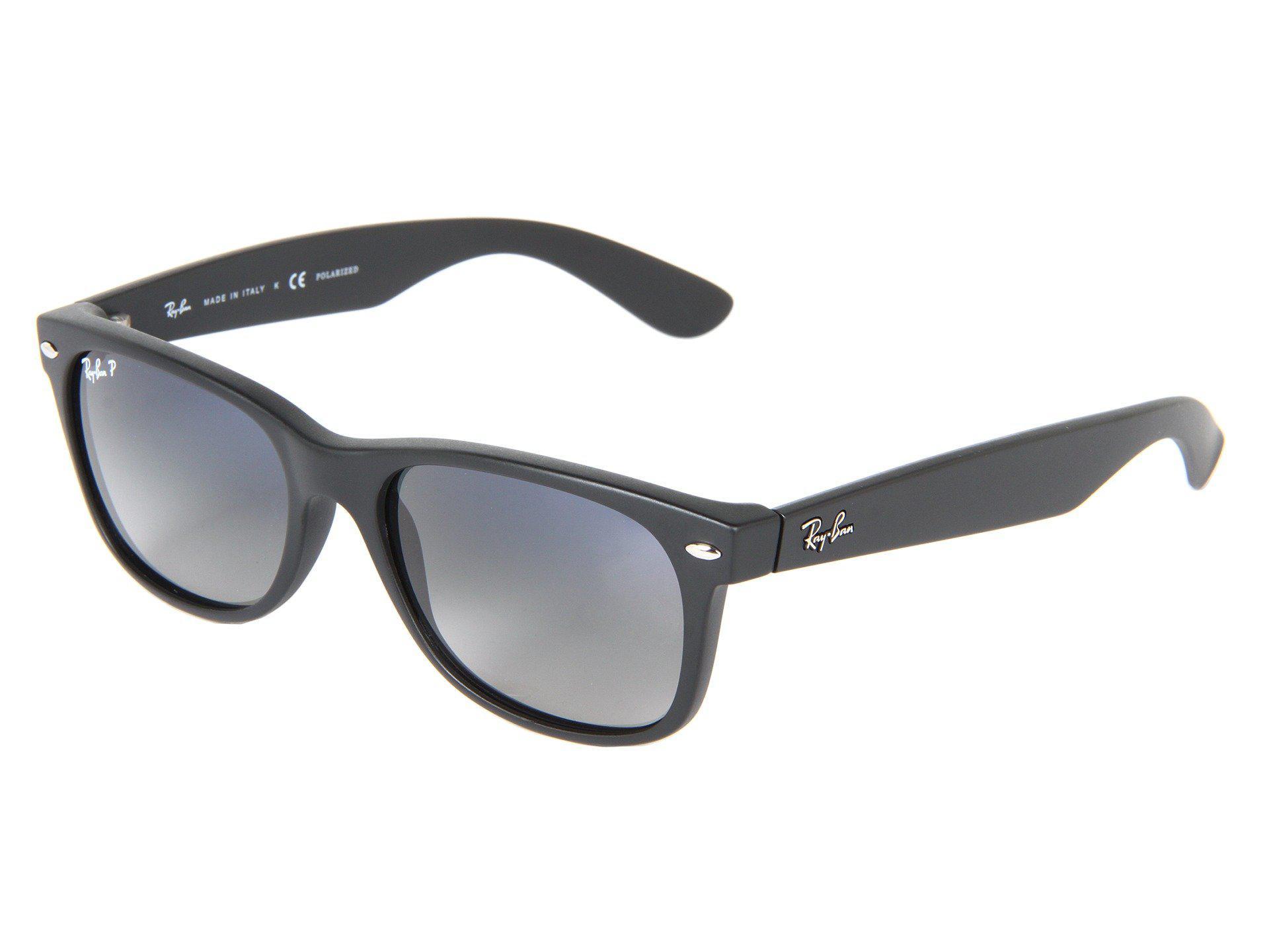 fd72a227b59 Ray-Ban. Women s Black Rb2132 New Wayfarer Polarized 55mm (tortoise crystal Green  Polarized Lens) Fashion Sunglasses