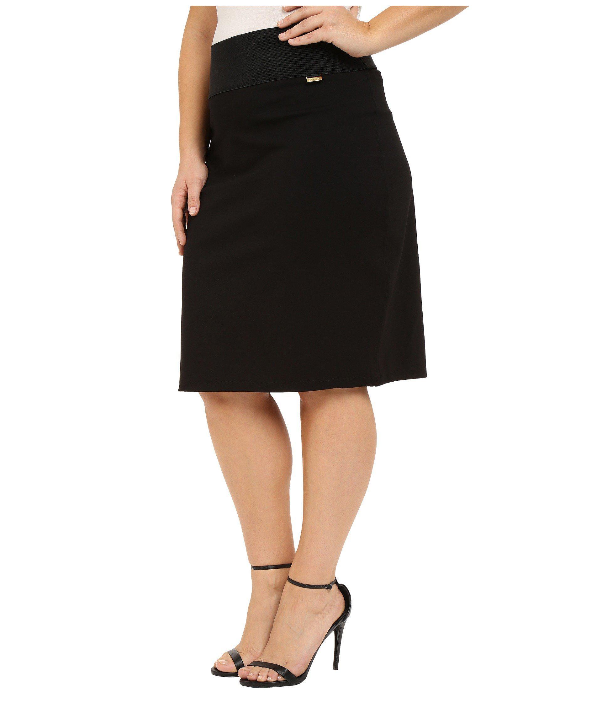 fc8d8b1e9a Lyst - Calvin Klein Plus Size Skirt (black) Women's Skirt in Black