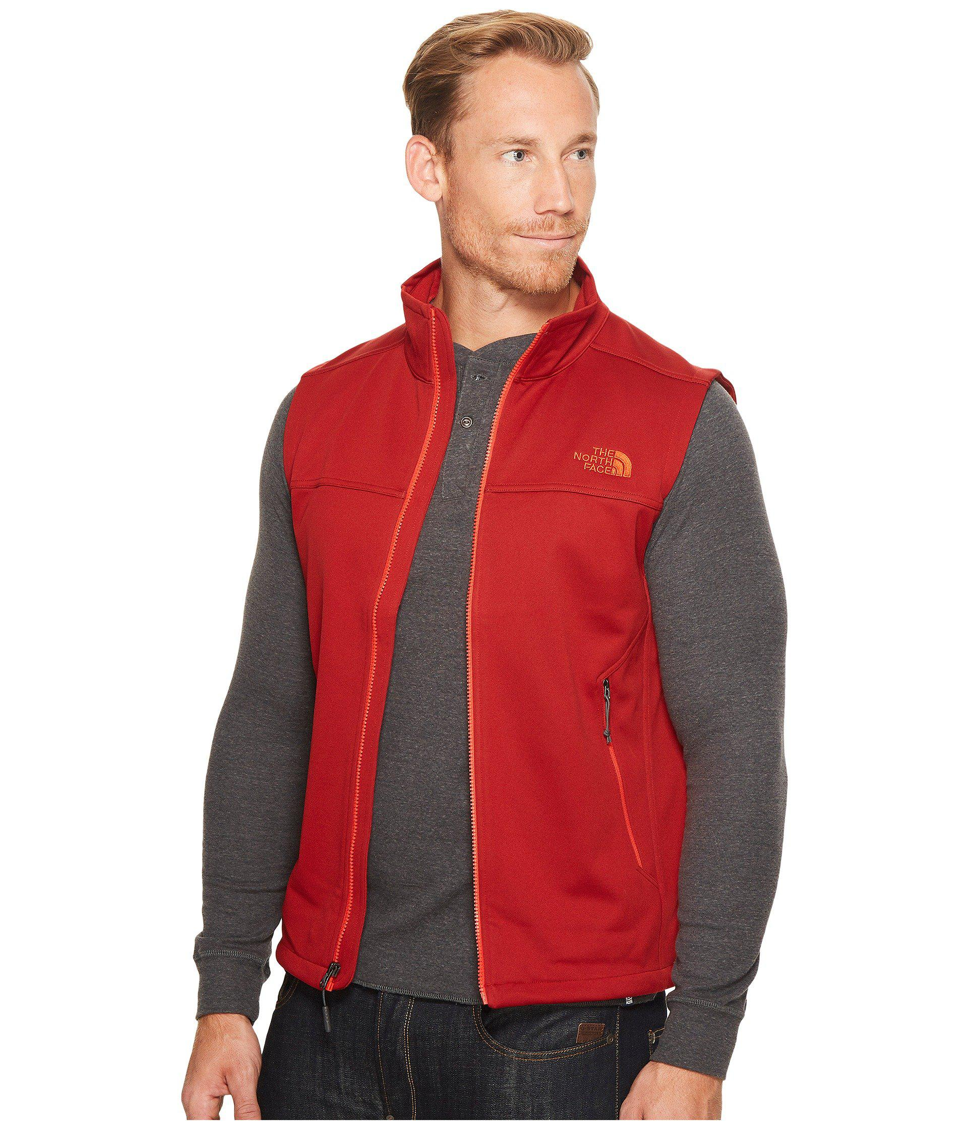 ... jackets coats the north face ec24d d348e  usa lyst the north face apex canyonwall  vest tnf black tnf black mens vest in red ea55f06cf