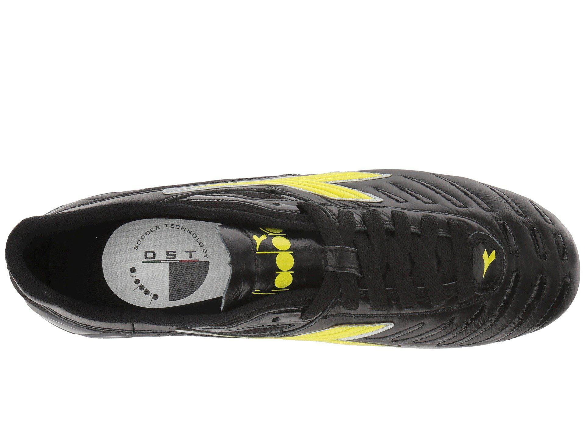 f24866d32 Diadora Maracana 18 W (black fluo Yellow) Women s Soccer Shoes in ...
