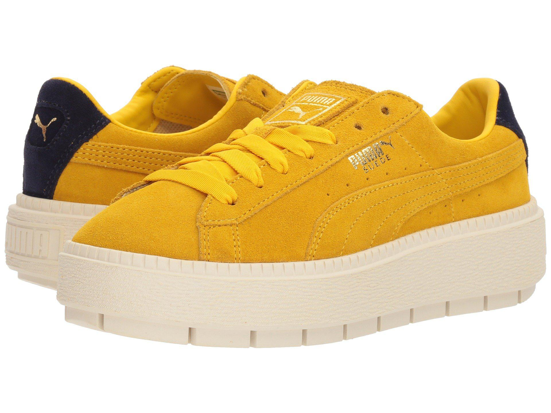 PUMA Yellow Suede Platform Trace Bold