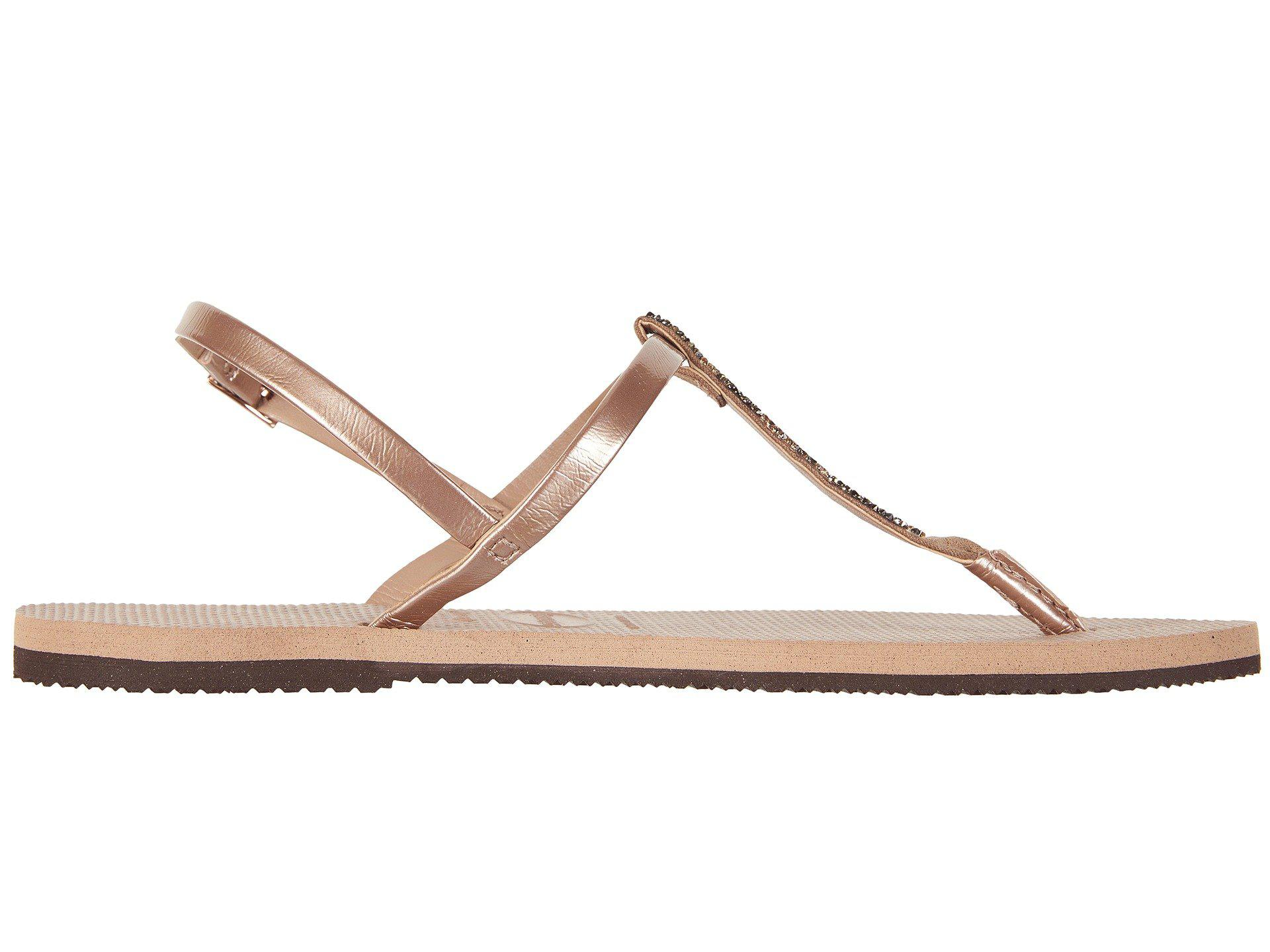 Havaianas Rubber You Riviera Crystal Sandals (rose Gold ...