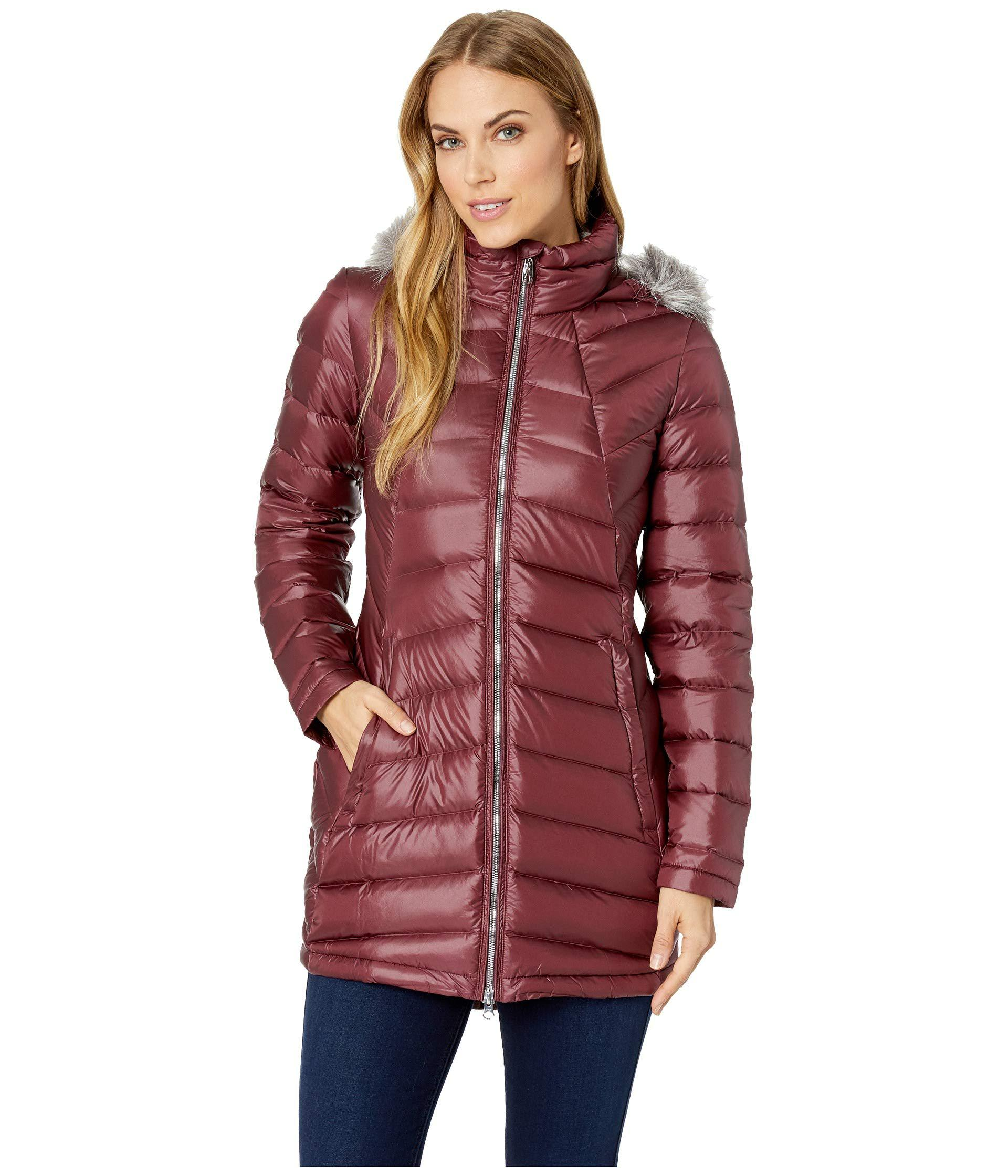 Spyder womens Womens Syrround Faux Fur Down Jacket