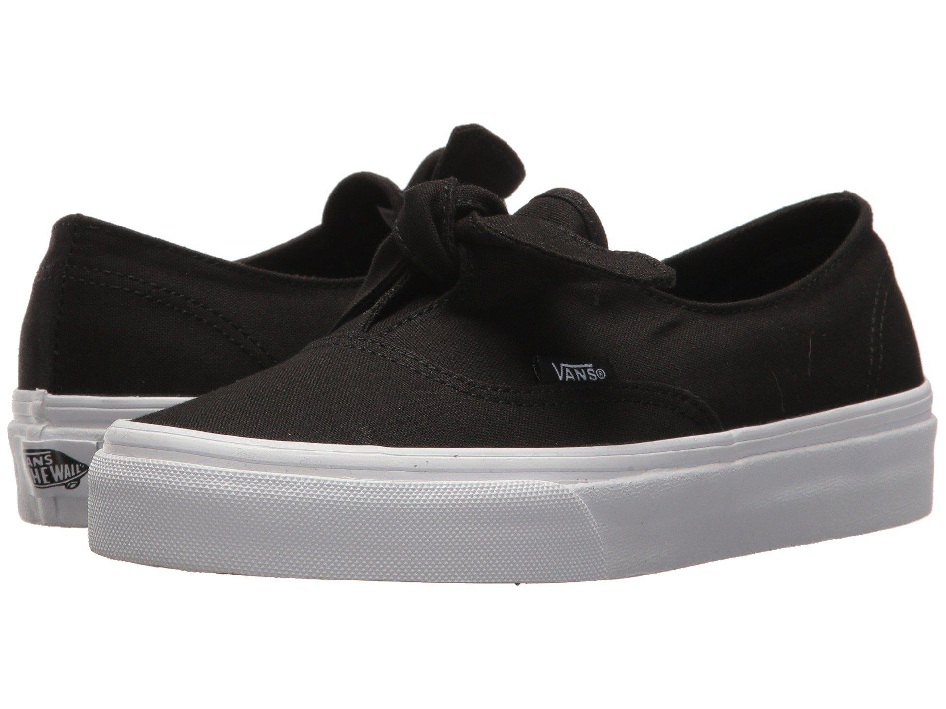 Vans 'authentic Knotted' Canvas Skate Slip-ons in Black - Lyst