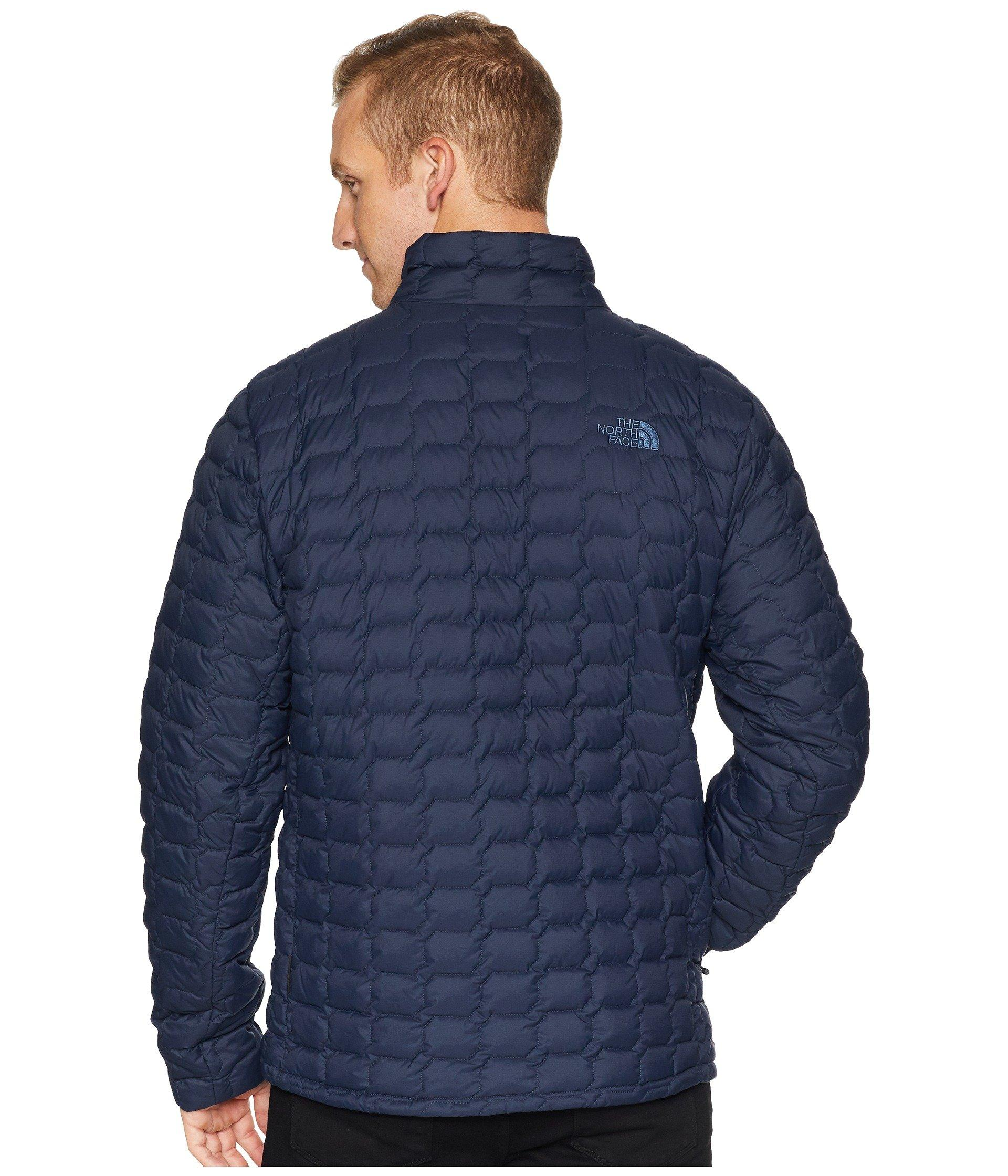 fa0b3877e The North Face Blue Thermoball Jacket (urban Navy Matte/mid Grey) Men's  Coat for men
