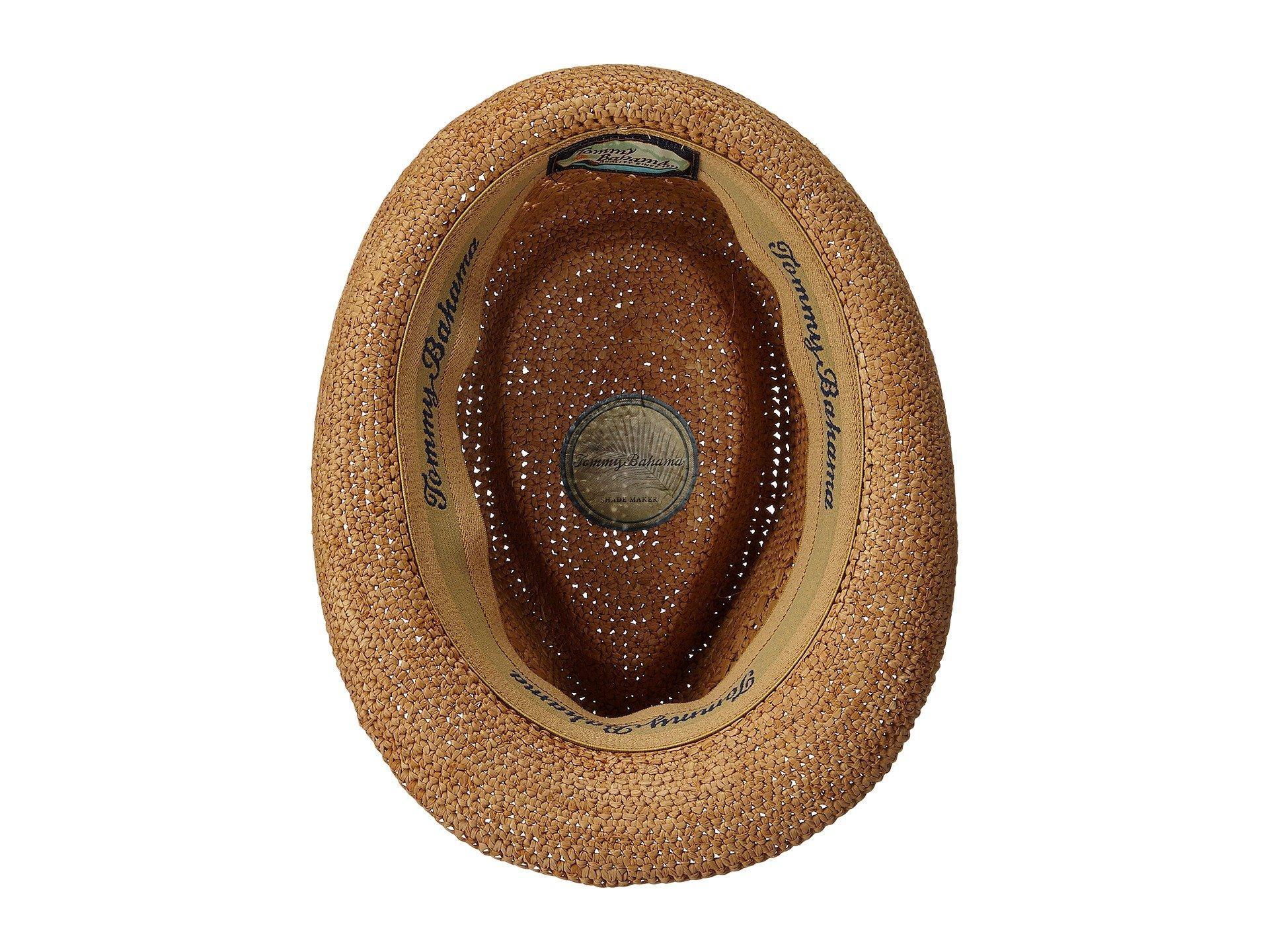 c6b798f2027f3 Tommy Bahama - Brown Vent Crochet Raffia Fedora (tea 1) Fedora Hats for  Men. View fullscreen