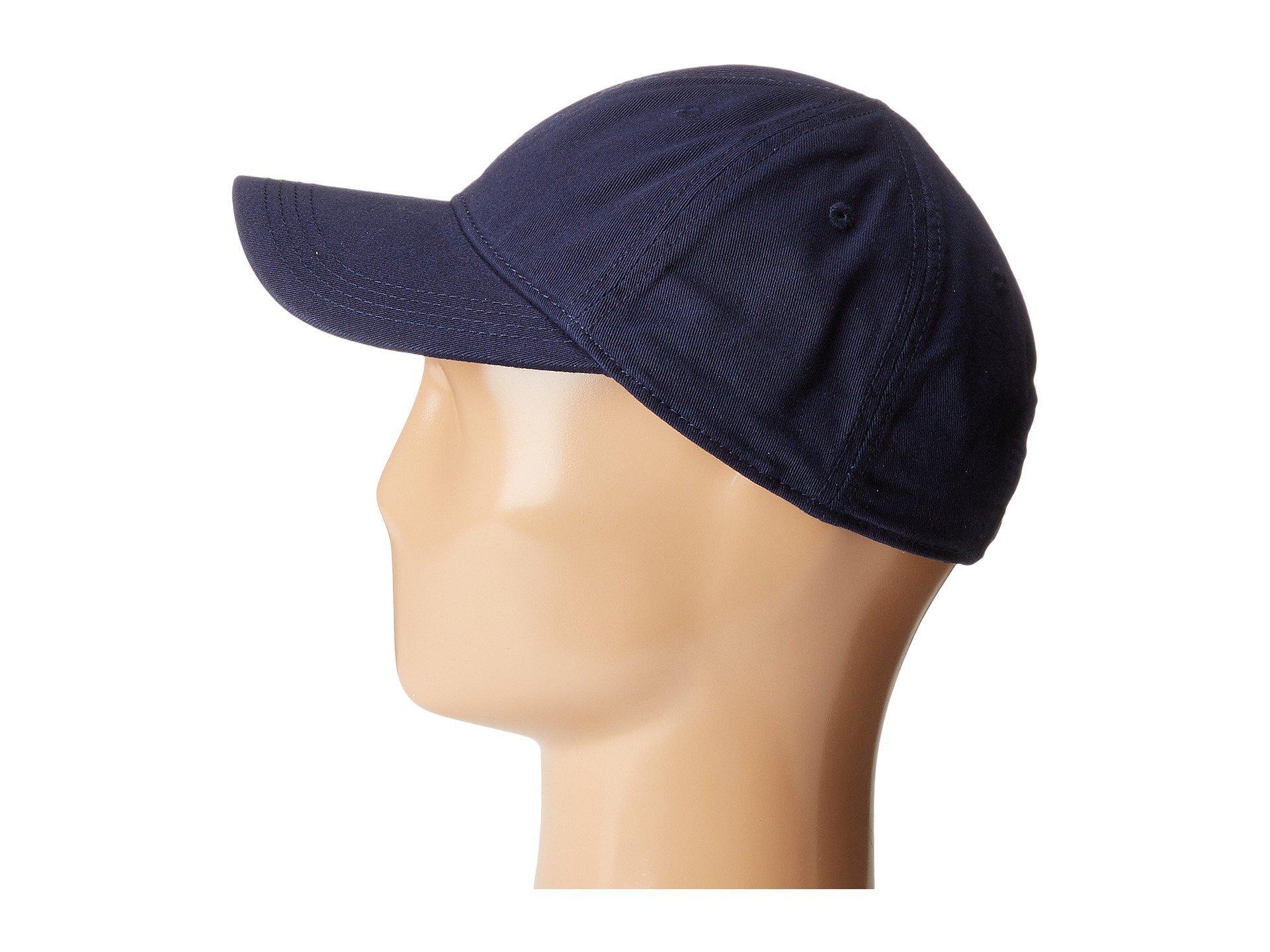 906de302a9e Lacoste - Blue Croc Gabardine Cotton Cap (green) Caps for Men - Lyst. View  fullscreen