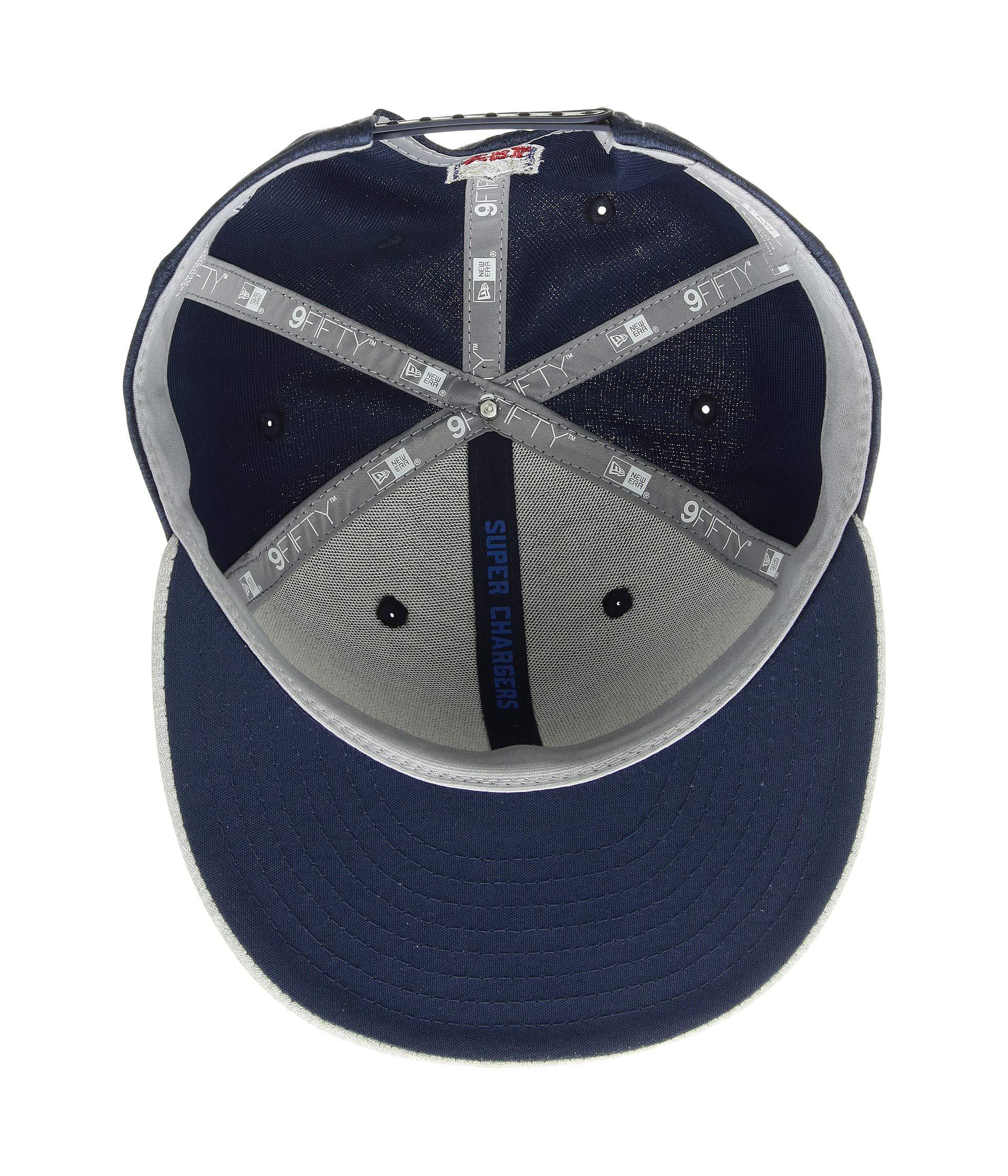 59d54a2bd25 KTZ. Men s 9fifty Official Sideline Away Snapback - Los Angeles Chargers  (grey blue) Caps