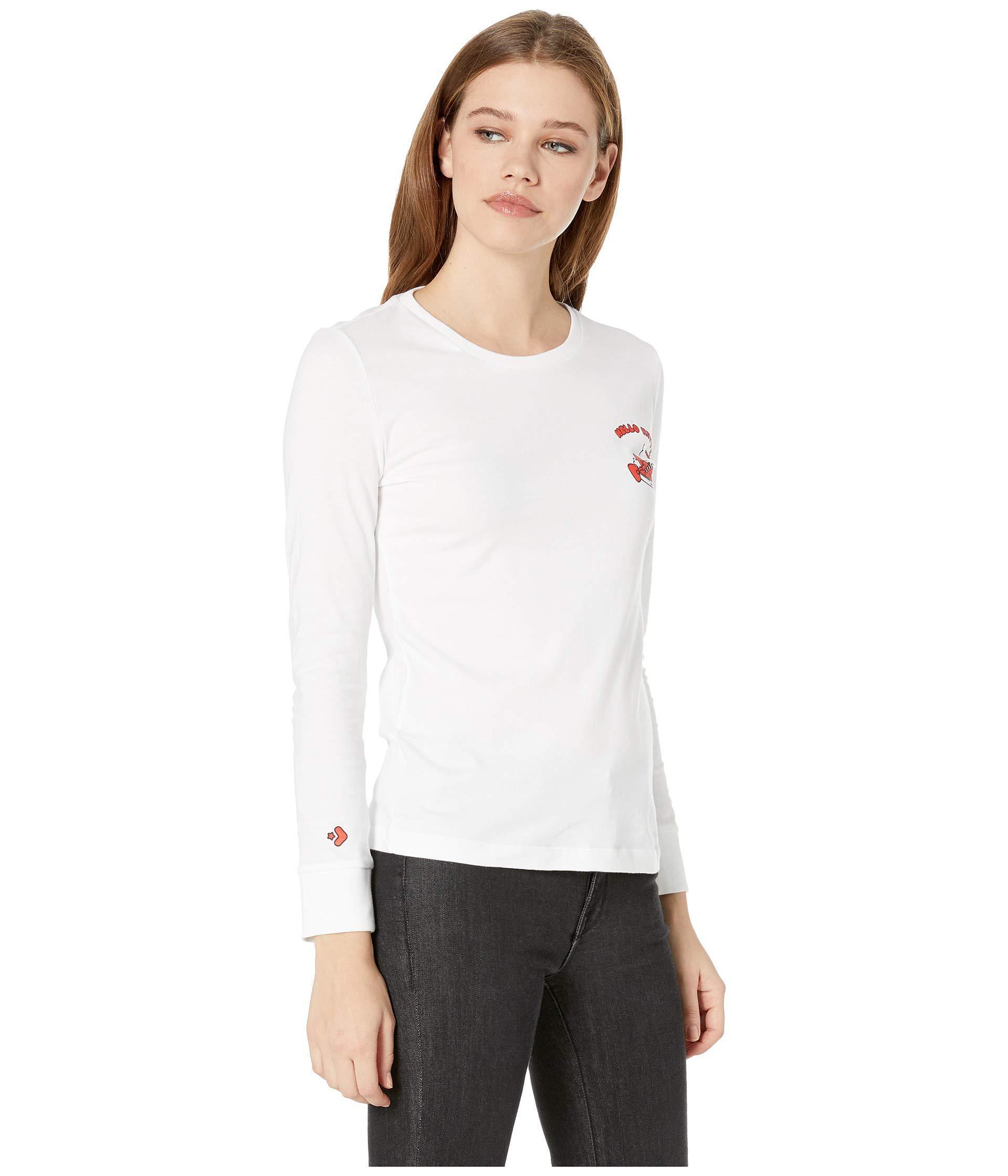2469814c Converse - X Hello Kitty Long Sleeve Shoe Pile Tee (white) Women's T Shirt.  View fullscreen