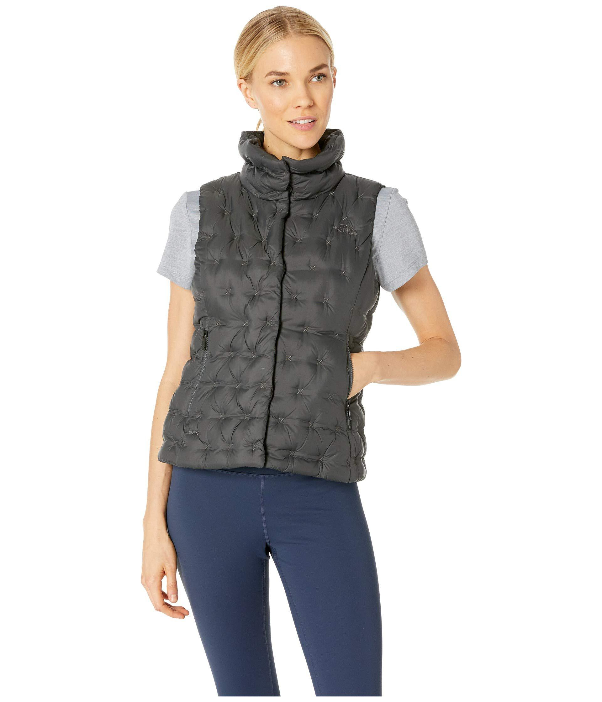 7430dd7a19 The North Face - Gray Holladown Crop Vest (tnf Black) Women s Vest - Lyst.  View fullscreen