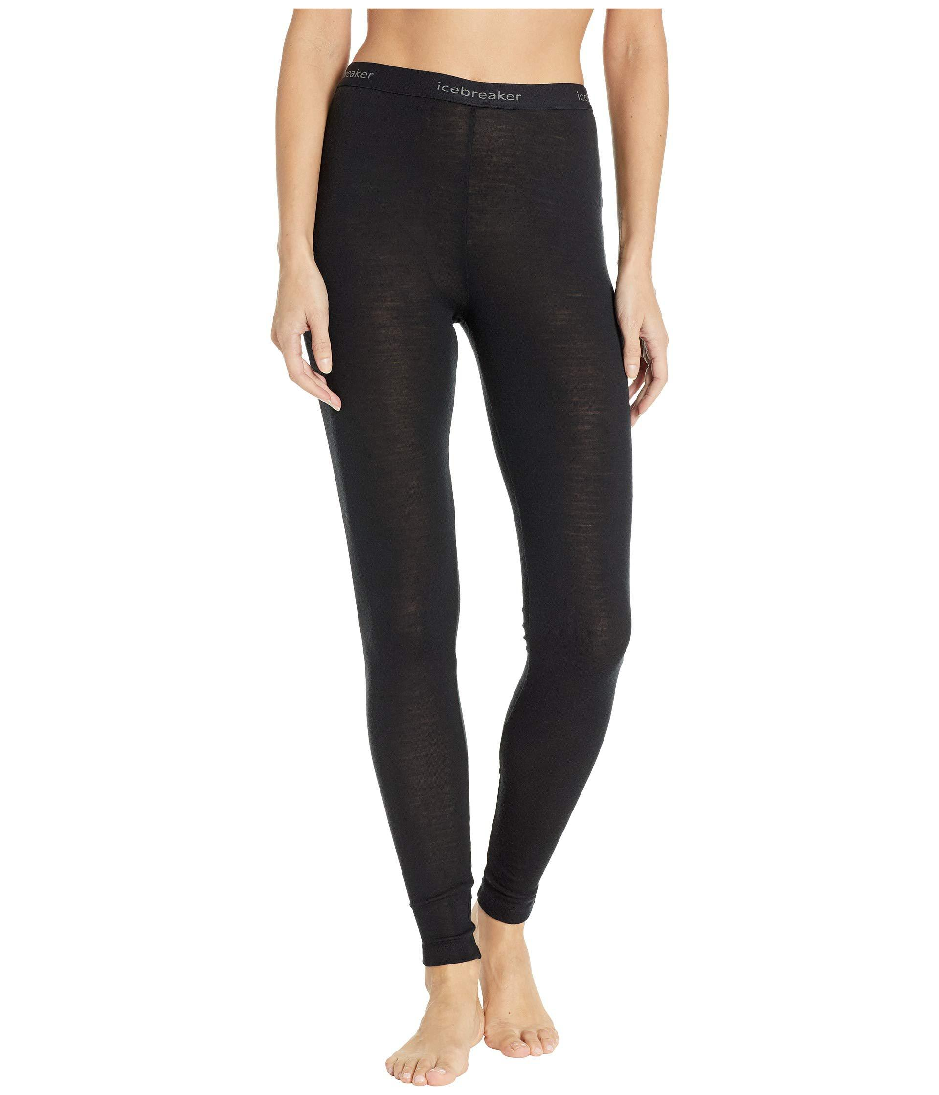 fa5809bc30e Icebreaker - 200 Oasis Merino Base Layer Leggings (black) Women's Casual  Pants - Lyst. View fullscreen
